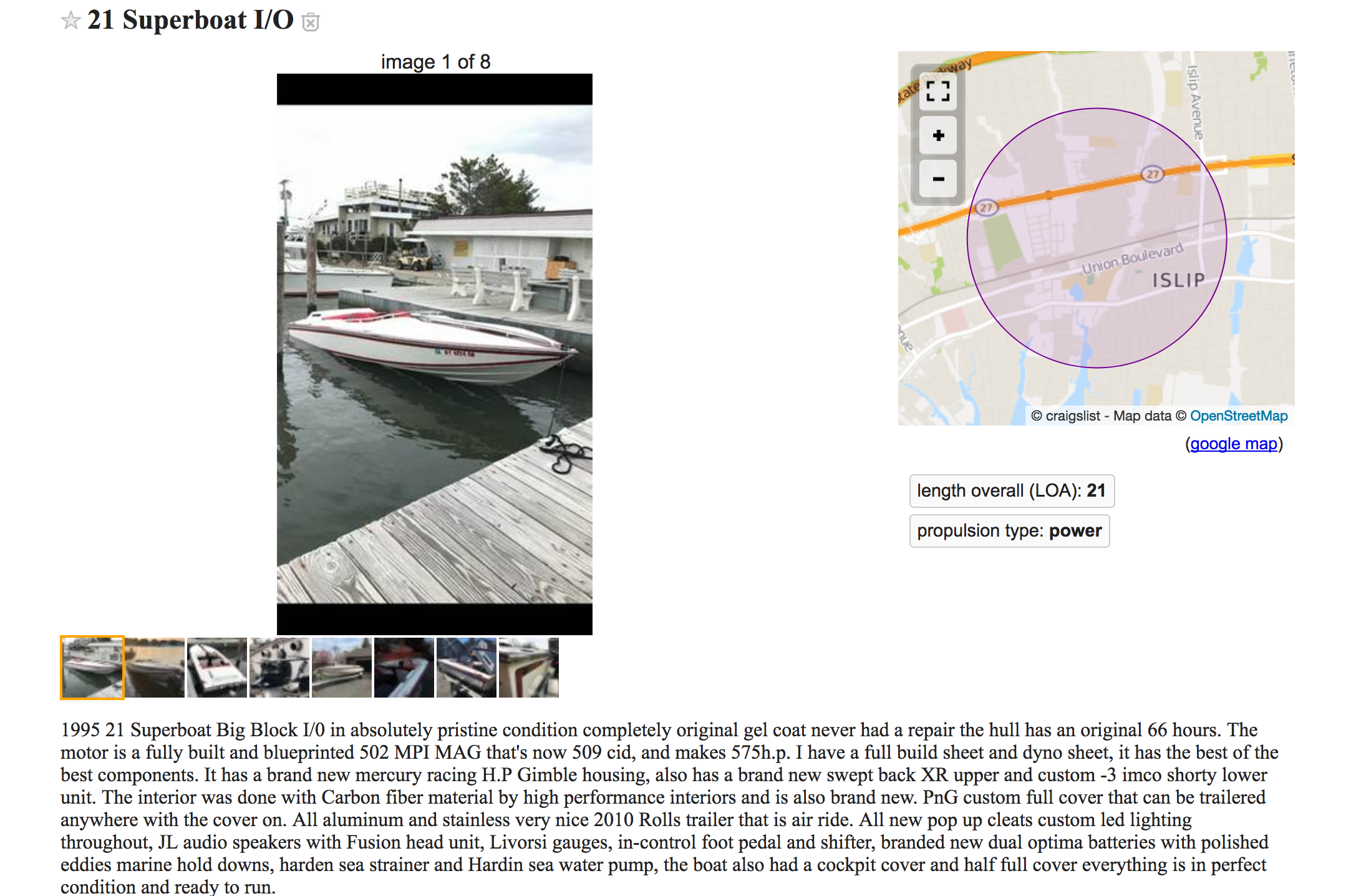 21 Superboat sterndrive