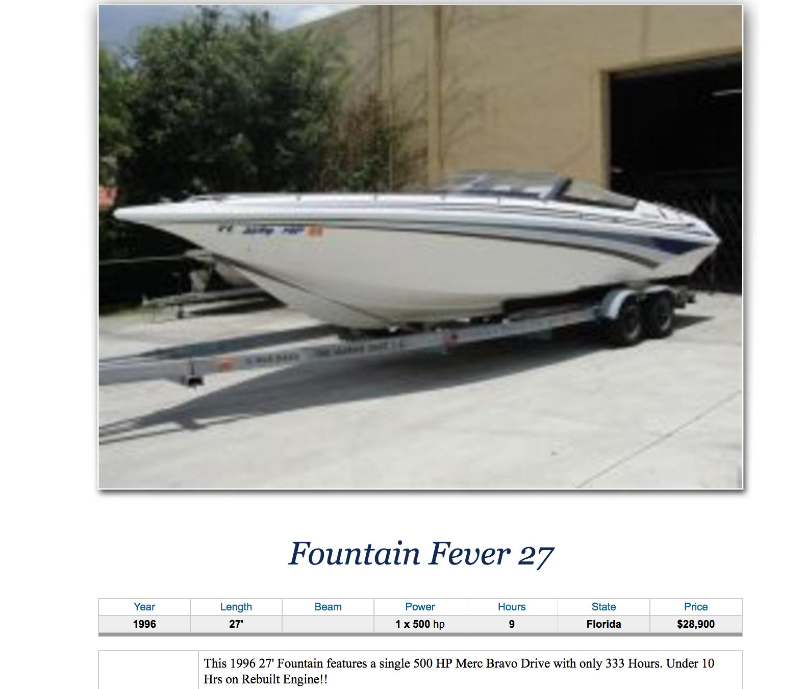 Fountain 27 Fever
