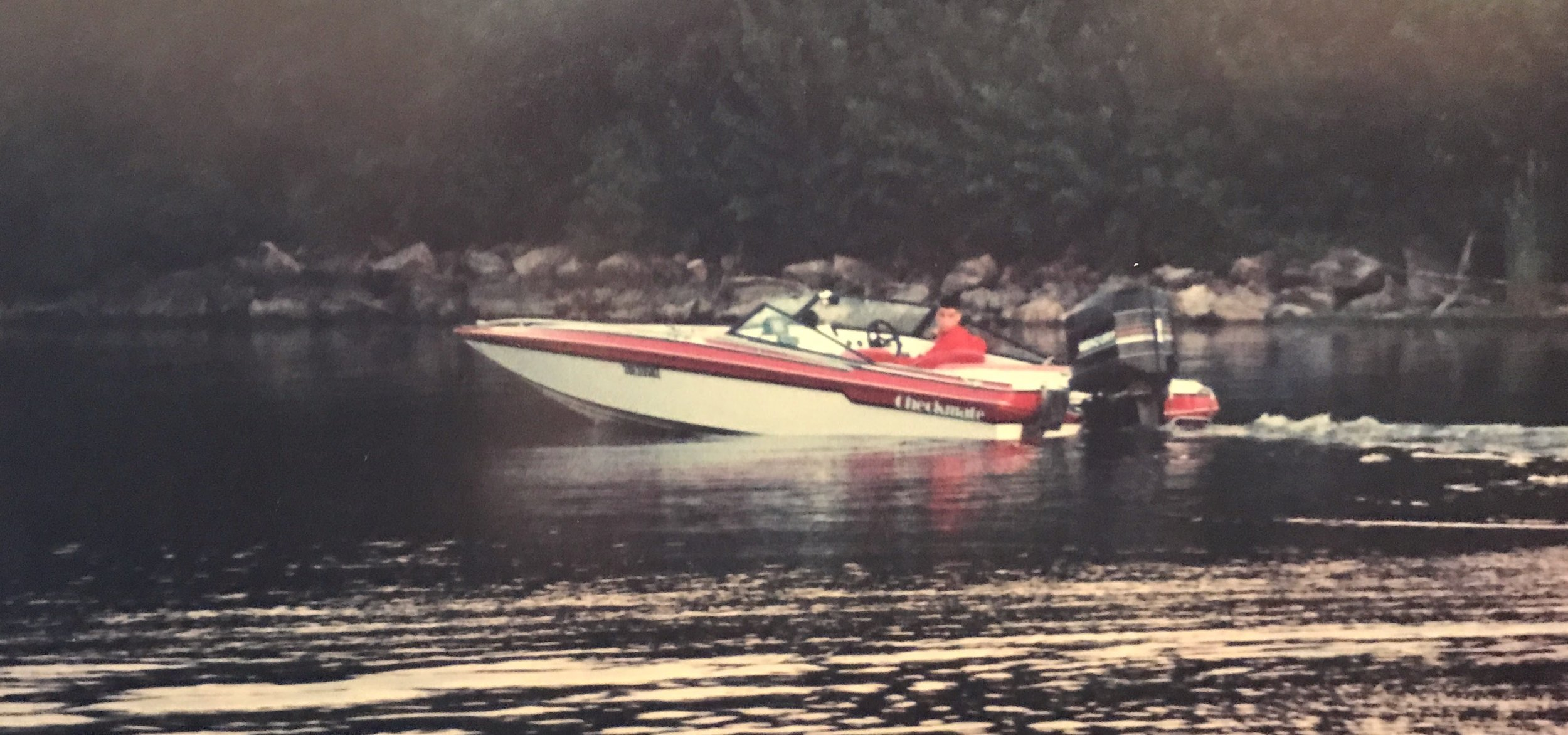 Weight - The combination of a heavy engine (3.4 Liter V6)and a low dead-rise hull, made this old Checkmate Starflite susceptible to porpoise, until adjustments were made.