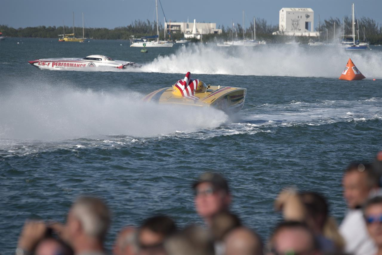 John and his team, leading the pack in Key West. Another day at the office.