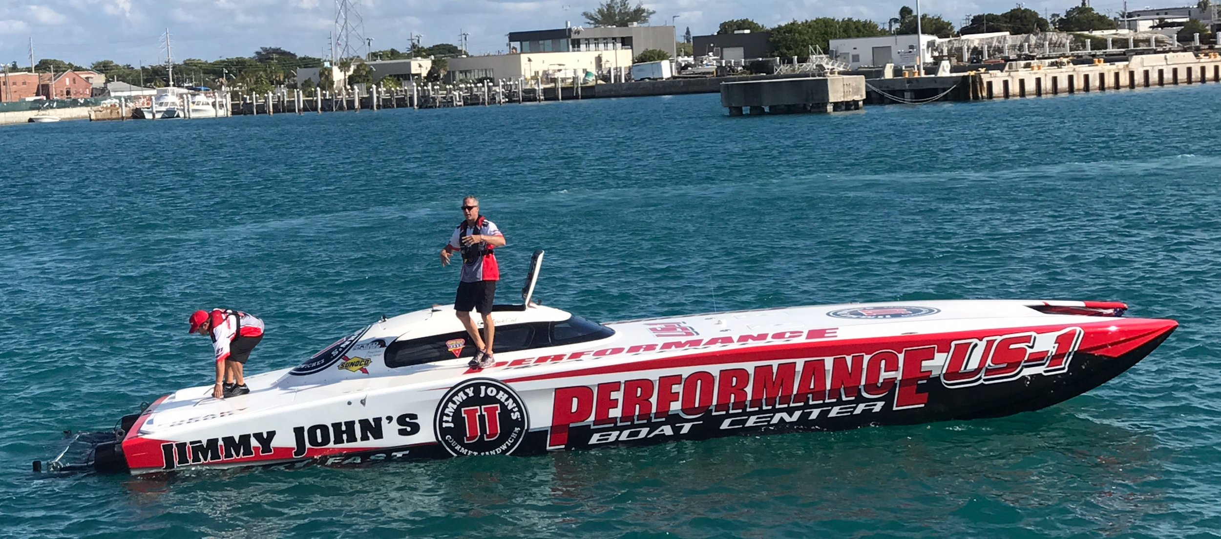 The Performance Boat Center, 388 Skater, with twin 750 HP Sterling Performance Engines.