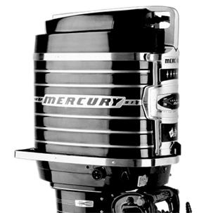 First - Lots of industry firsts for Mercury, first splined prop shaft,the first V6 and the first 100 HP outboard:1962 Mercury 1000