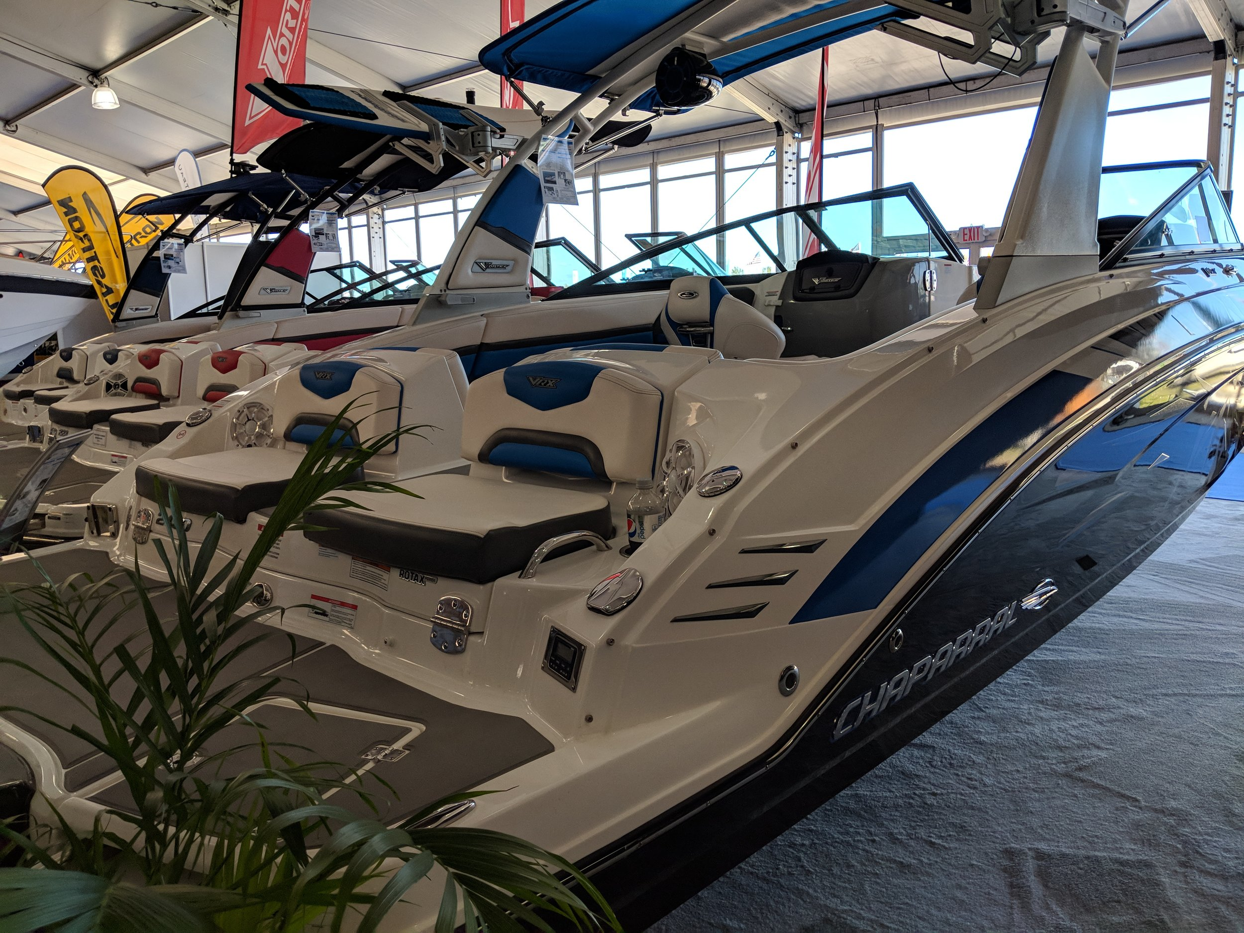 More reverse seating, dumb design in many ways. It's a wake board boat and a deck boat all in one.