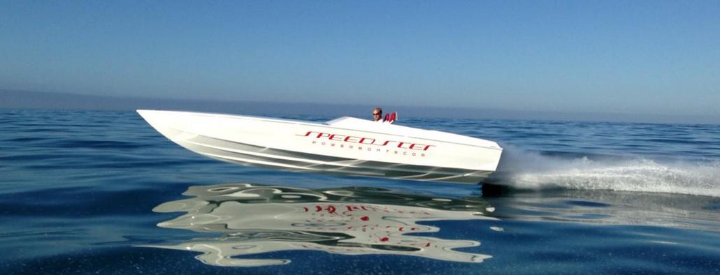 A remake of the original by Speedster Powerboats, in California. The Larry Smith Scarab 26 is a beautiful boat that really ran well.