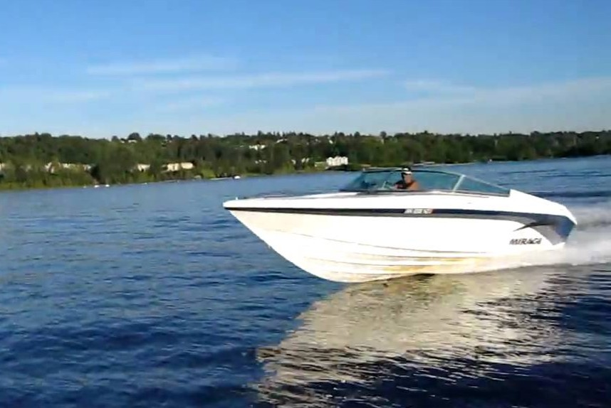 Sleeper - A sleek family boat that really rides nice. Back when you could buy family boats without wakeboard towers and full kitchens on board.