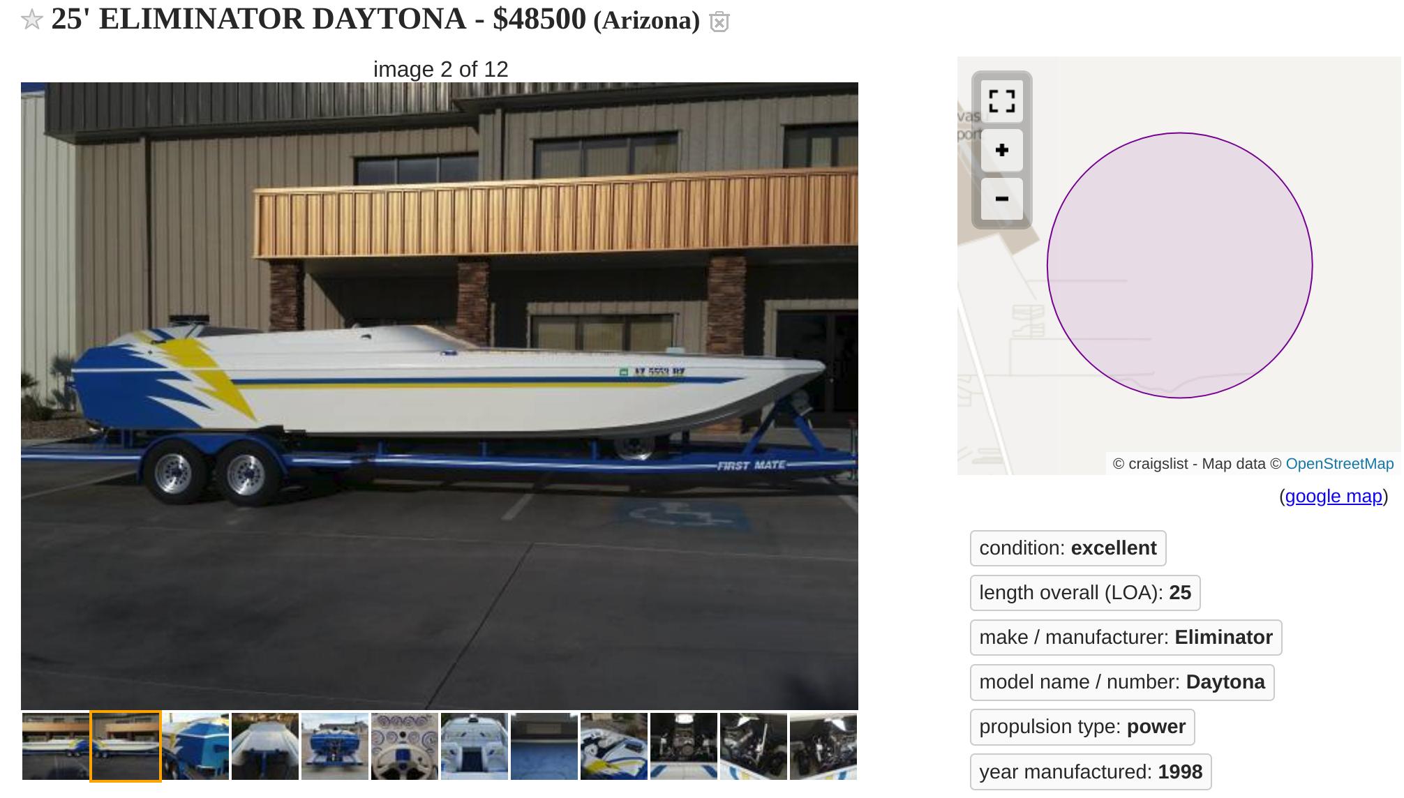 25 eliminator Daytona