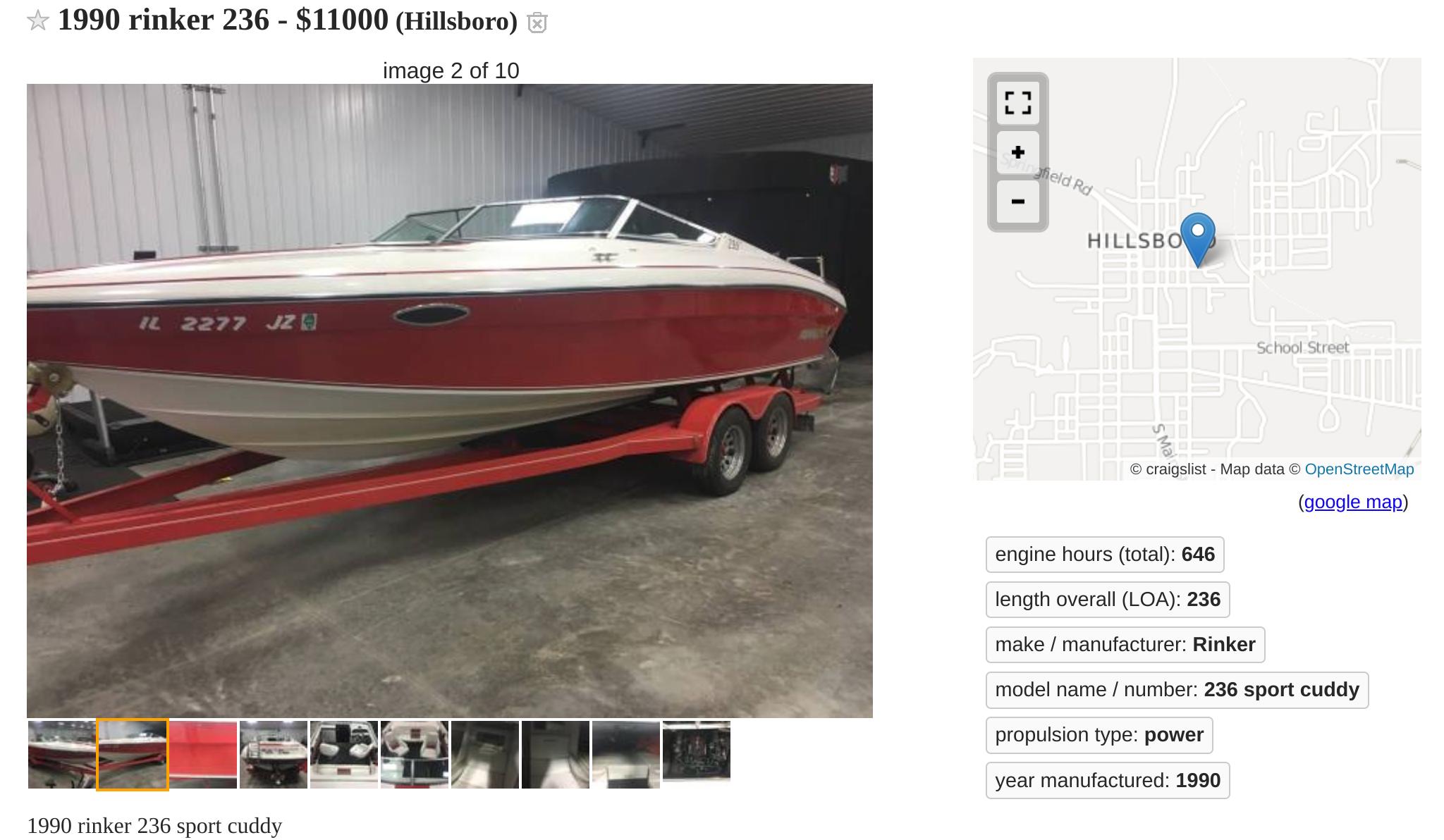 Rinker boats 236
