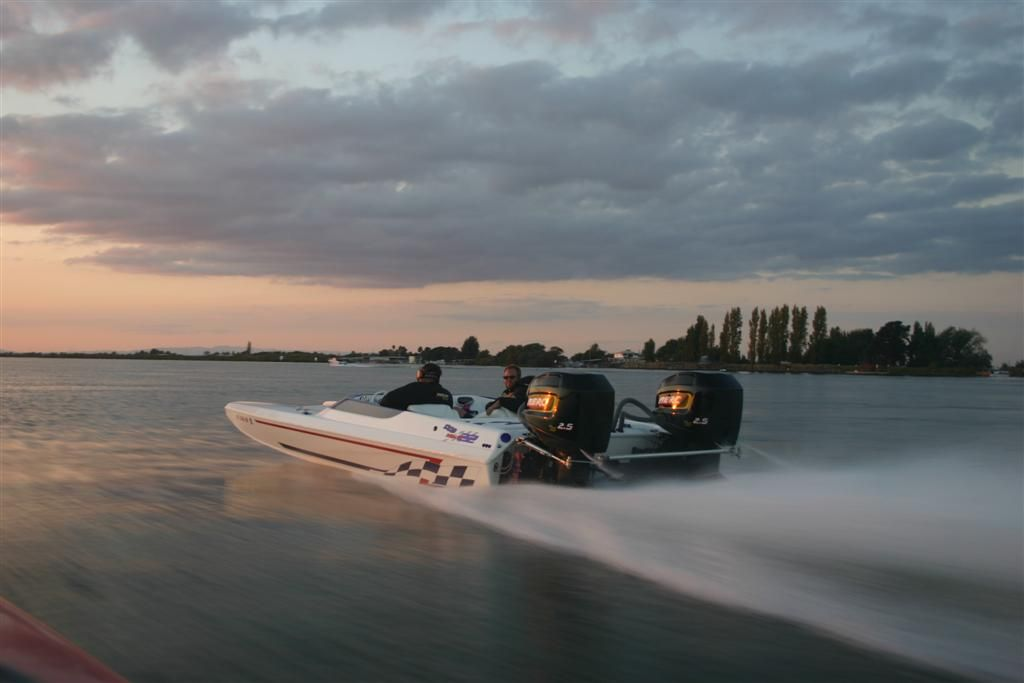 Low profile and top notch build make this an attractive package. Stunning boat.