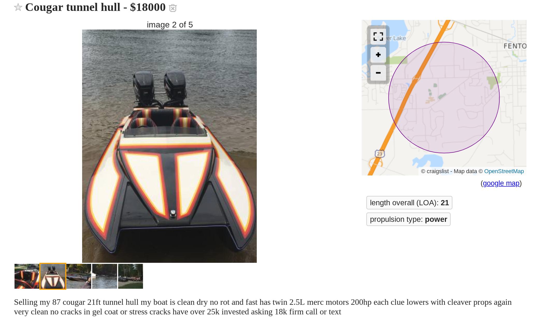 Cougar boats 21