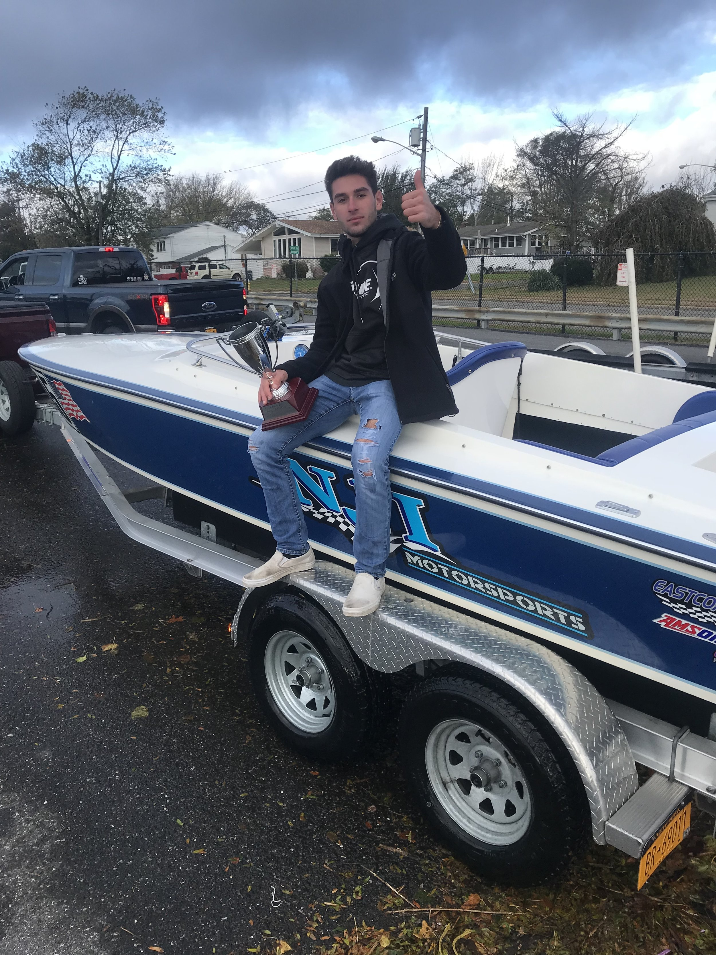 Racing - At 17 years old, Nick Imprescia is already making an impact in his racing career. Seen here sitting on his beautiful 21' Superboat (NJI Motorsports)