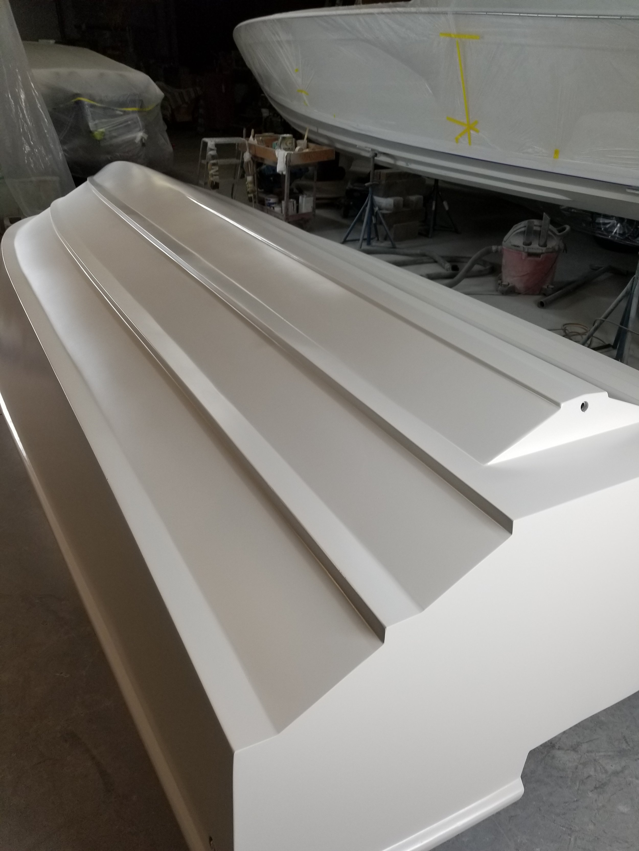 Primer - The primer coat is critical, and we used a high quality Awlgrip epoxy marine primer.