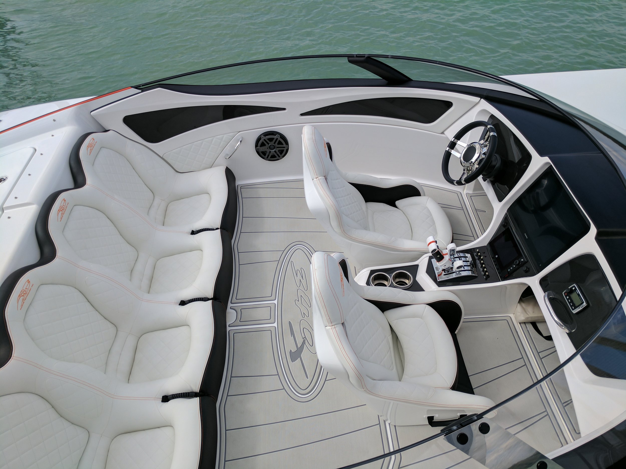 Forward facing seats are not only more comfortable, safer and better ergonomically, they are the best use of limited space. But in boats, safety should be the fist priority.