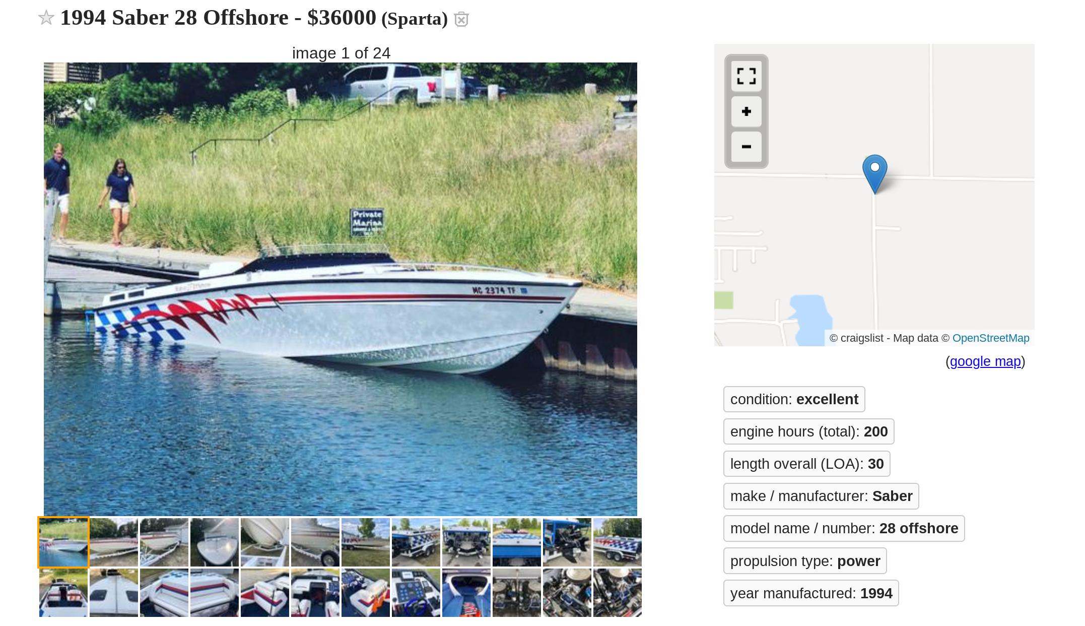 Saber 28 offshore