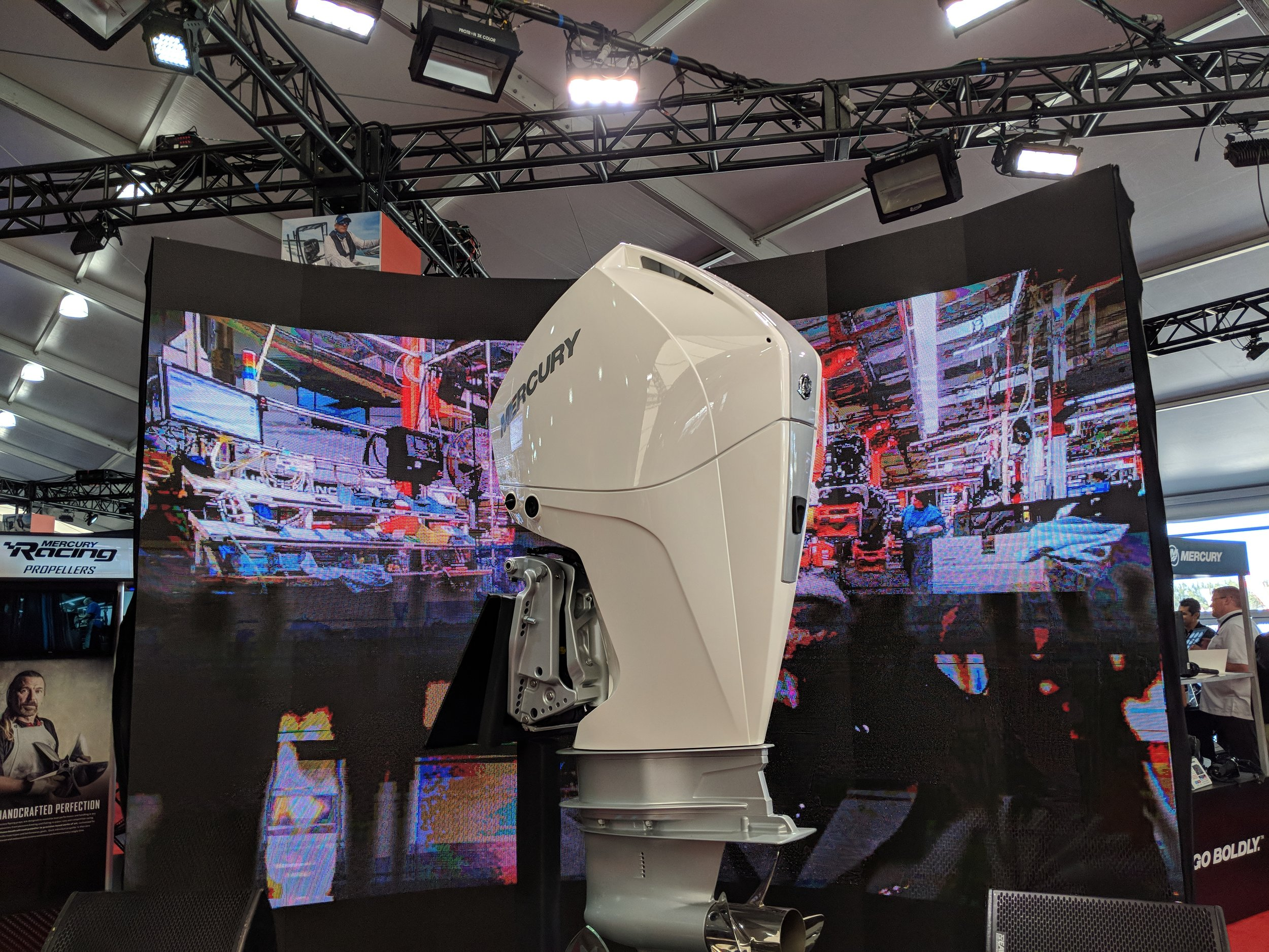 What a show Mercury Marine put on last year. Demand is huge apparently. Looks cool in white.