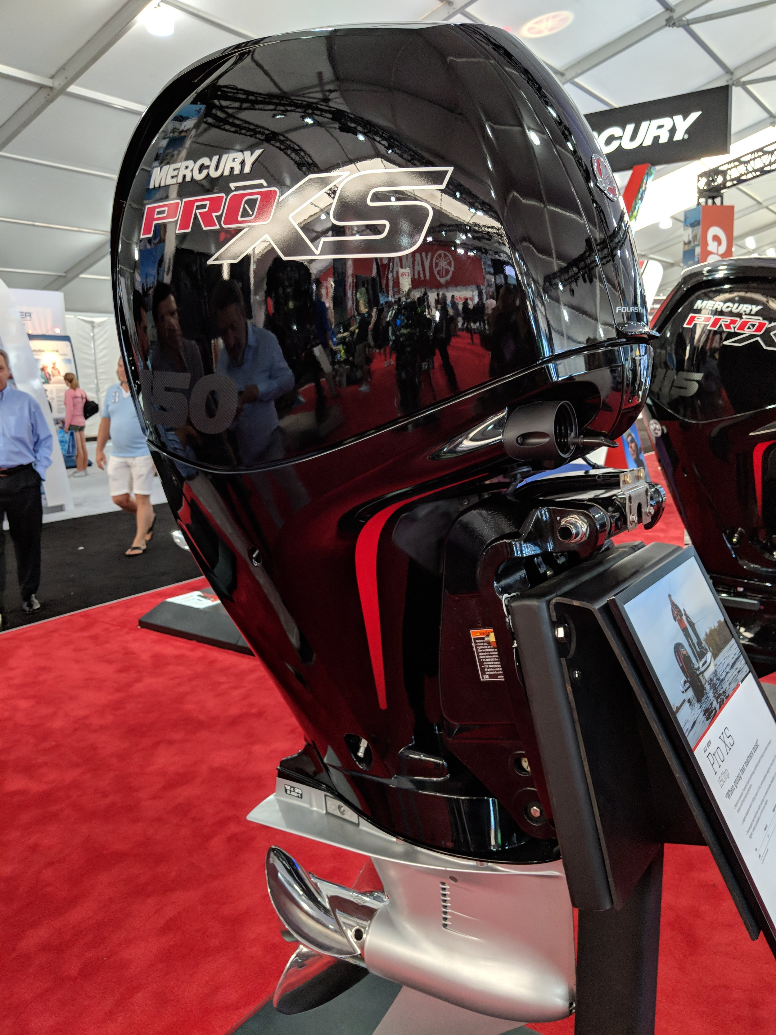 The 150 ProXS gearcase is better than the stock 150 in that it has low water pickups. The shape is probably okay for most boats that are running this engine. Would love to test it on a light hull.