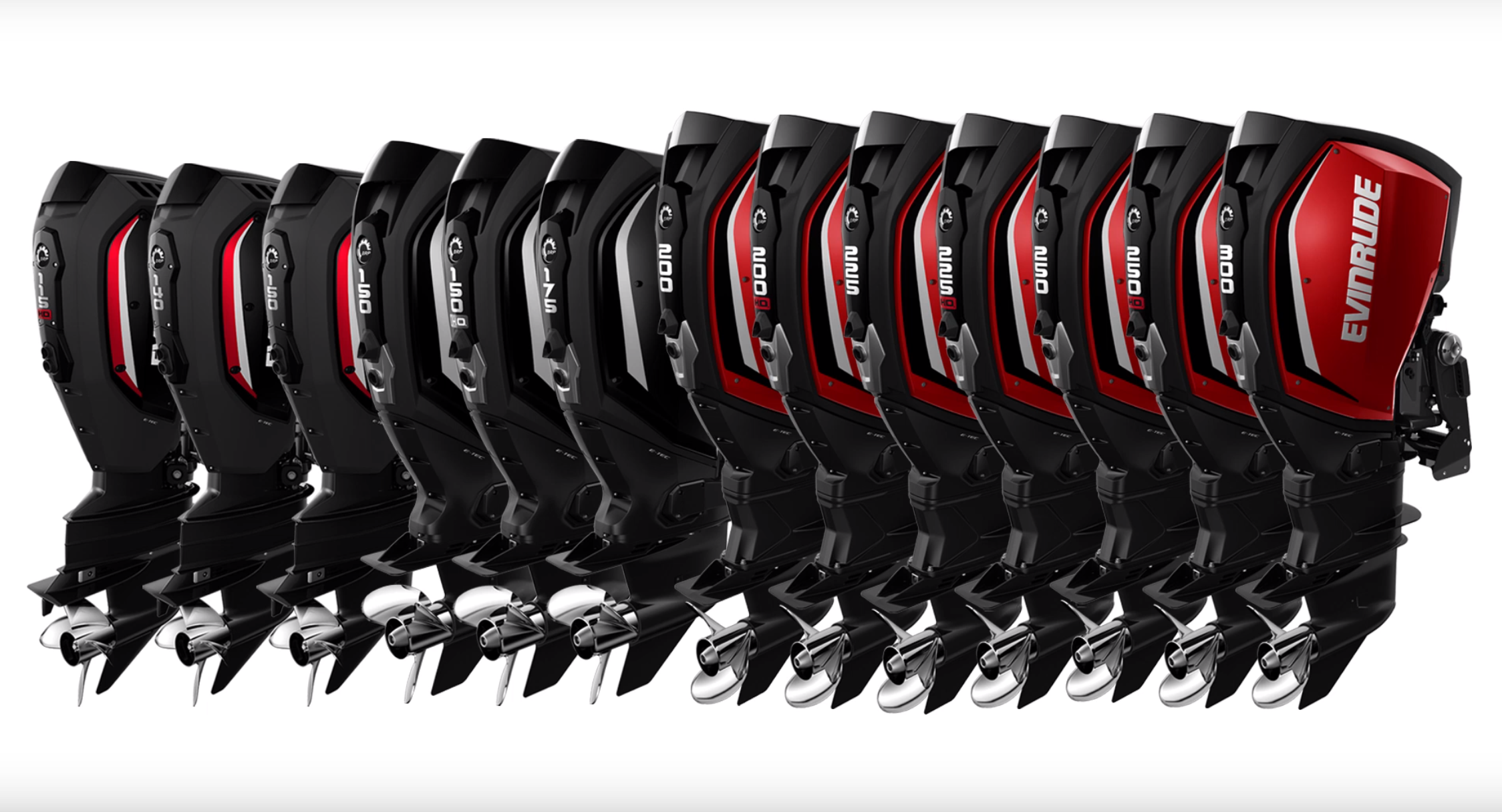 The whole family. There are 3 150 options now, 1.9, 2,7, and 2.7 150 HO. Look for more power next from Evinrude. A 3.8L 350 and 400 HP perhaps?