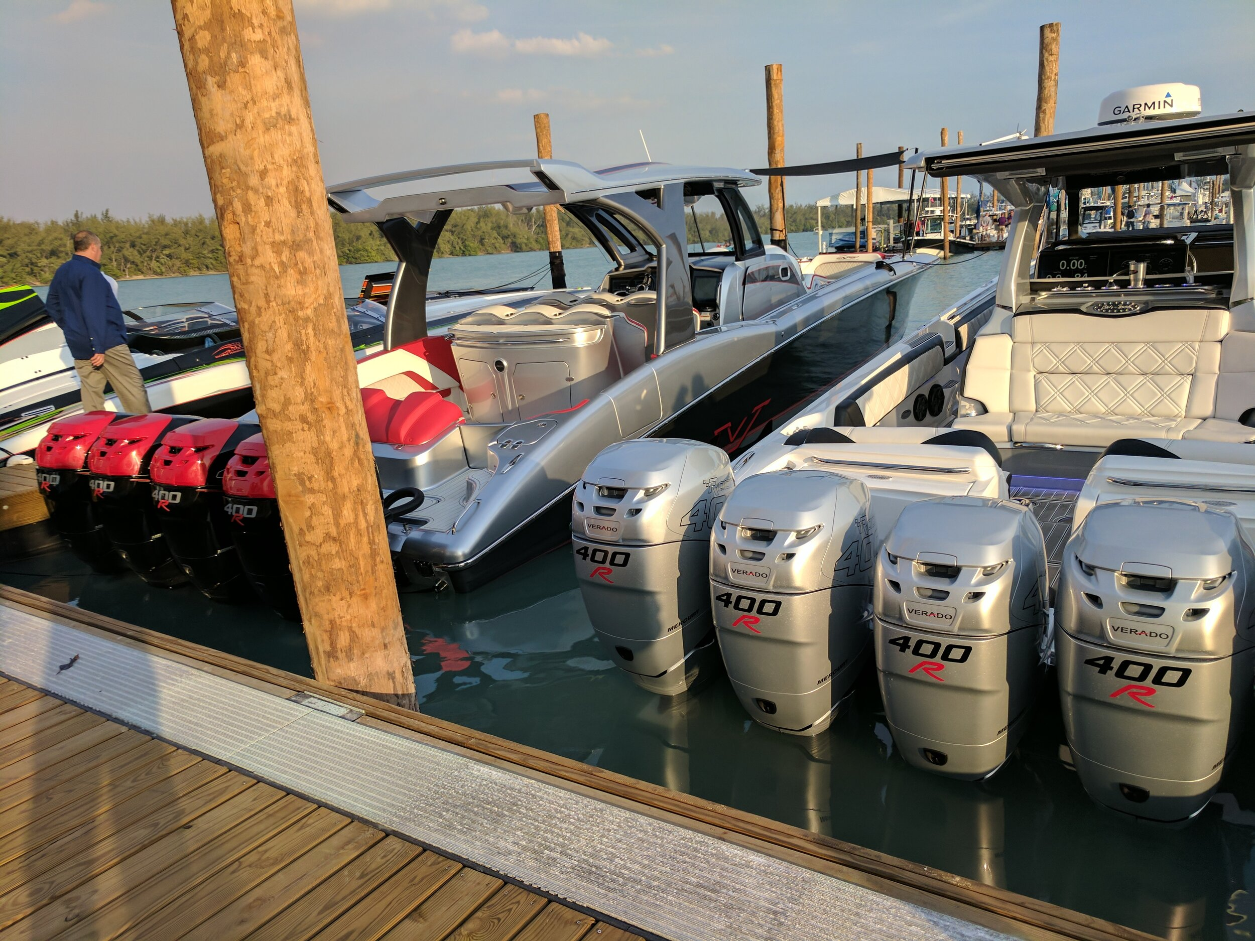 Many former offshore sport boat buyers are turning to these, but it's hard to crack 80 MPH in a giant bath tub no matter how many 400Rs are on the back. The stereos are awesome though!