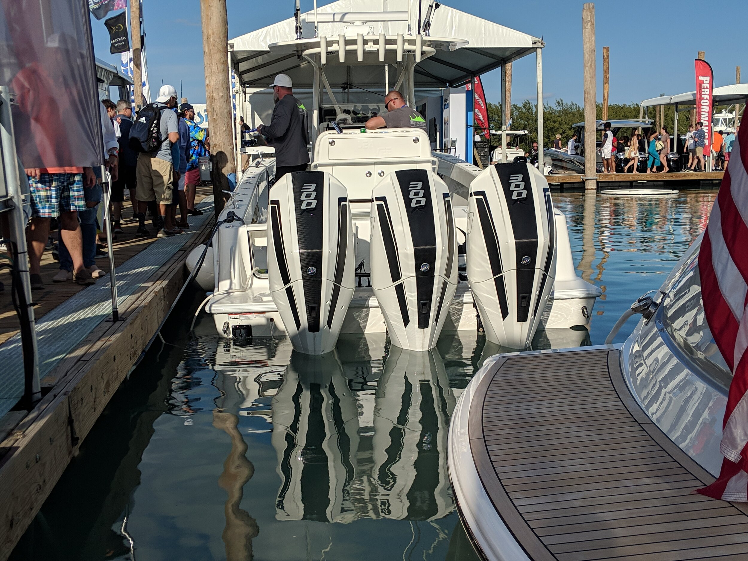 A more hardcore center console like this SeaVee will often outperform the luxury ones, and be more suitable for big water.