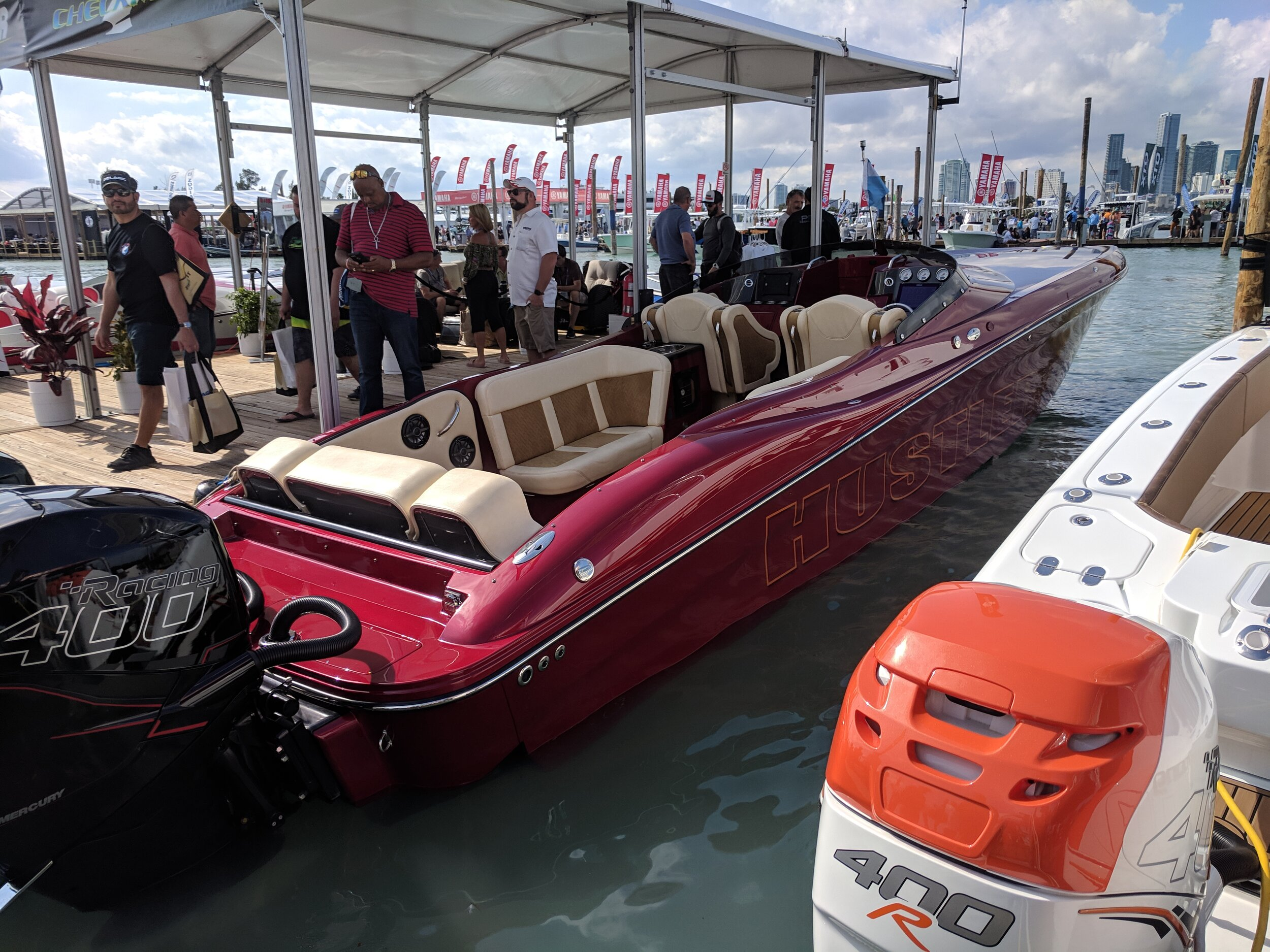 The Hustler 39' Shotgun and their new 29' Rockit outboard coming to market, the New York custom builder sees where the market is going. And, they are getting creative with the interior. Lots of room for activities.