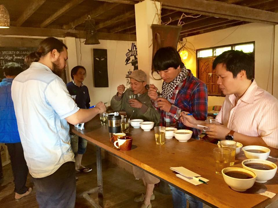 Filanthrope & Jhai Coffee House conduct pre, mid, & post harvest season cuppings with all JCFC villages. Nano-lots and varietals are always kept separate so that shining stars are located!