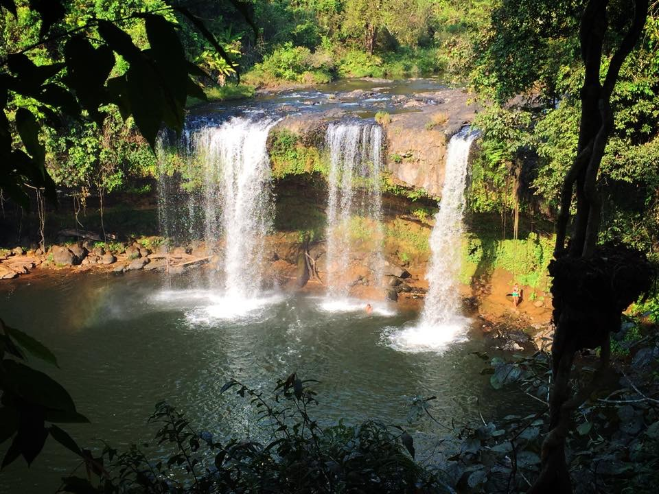TAD CHAMPI WATERFALL: There are four beautiful waterfalls located just 15 minutes from Jhai Coffee House. Refer to the map above.  Click here for more waterfall pictures.