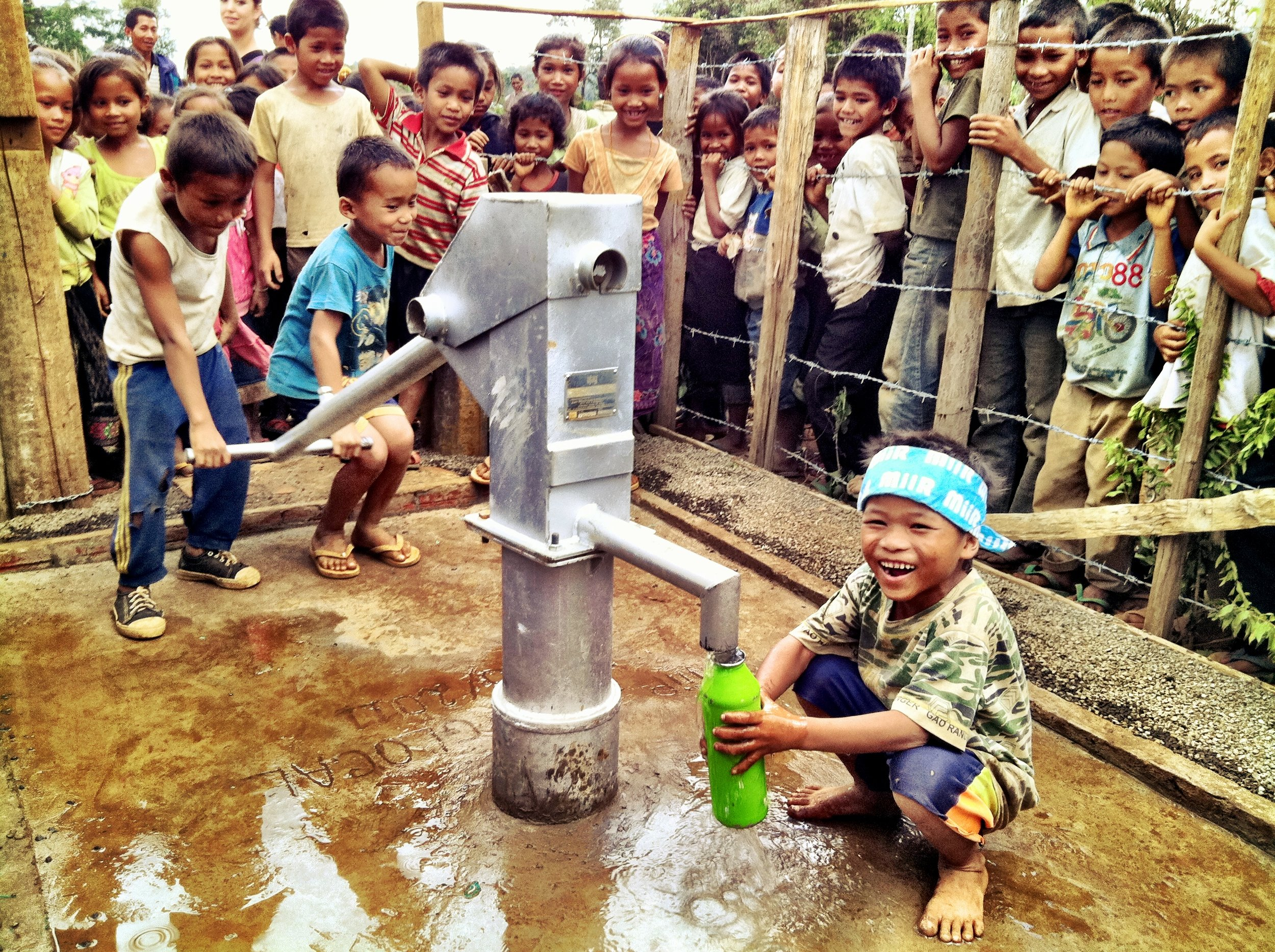 Jhai water well #1, Nong Phanoun village, 197 children. This water well was drilled in 2012 in partnership with  MiiR  a Seattle based social business.