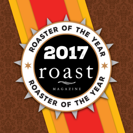 Thanksgiving Coffee Co was awarded 2017's Roaster of the Year