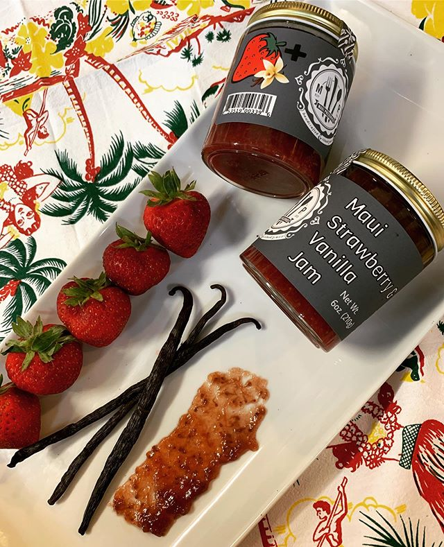 Maui Strawberry and Vanilla Jam  Small batch- back in stock !🍓🍓🍓🌞