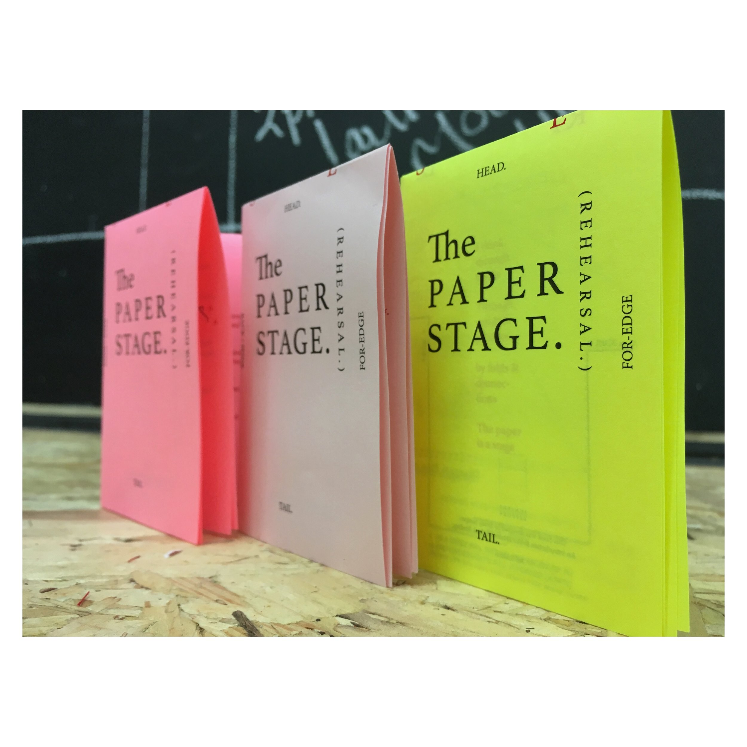 The Paper Stage - a mini book I've spent a year refining - And is often my opening exercise with students - is getting a NEON MAKEOVER!