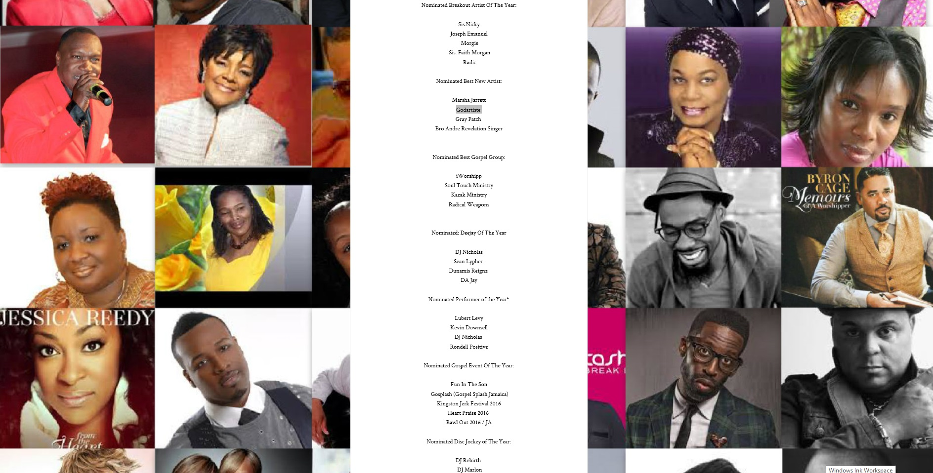 Gospel Hall Of Fame Induction & Award Ceremony 2016 (Caribbean Results) - Godartiste Nomination