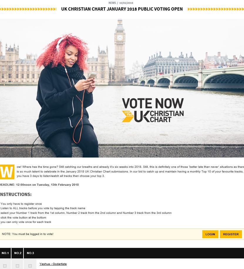 UK Christian Chart - Godartiste Nomination