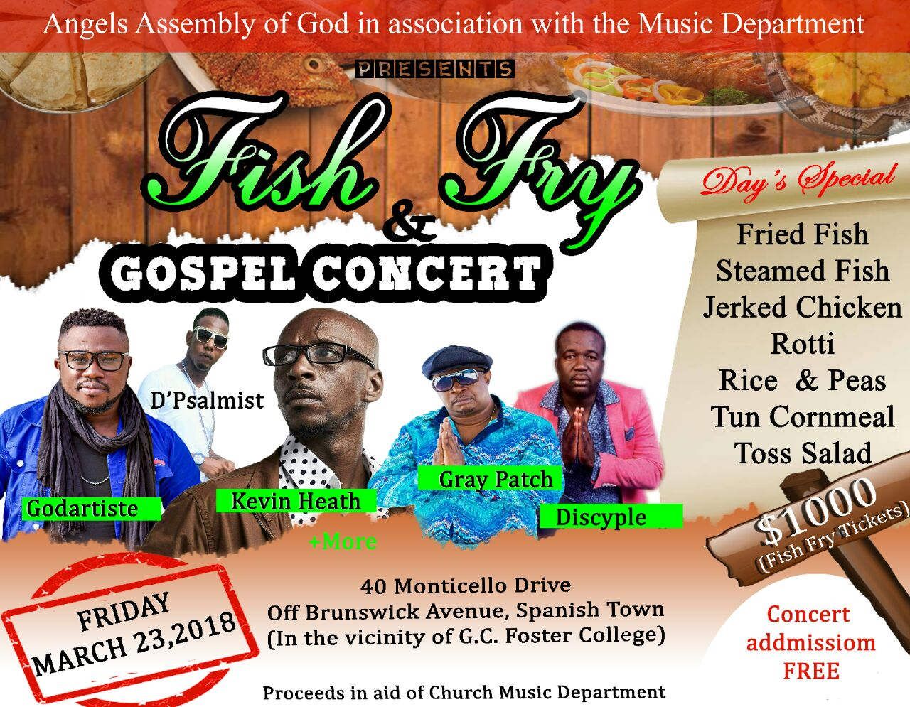 Fish Fry + Free Concert March 23, 2018 Don't Miss It!.jpeg