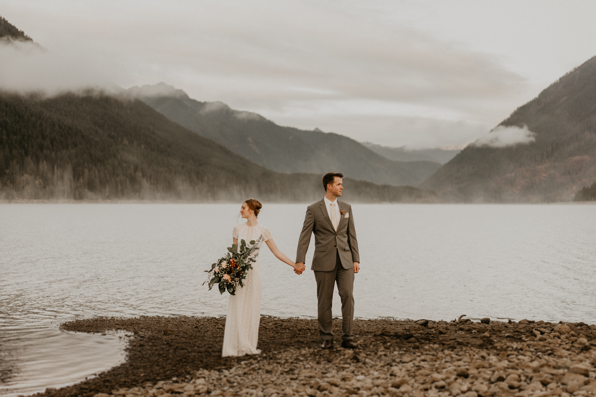 Lake Cushman is the best place to elope by olympic national park
