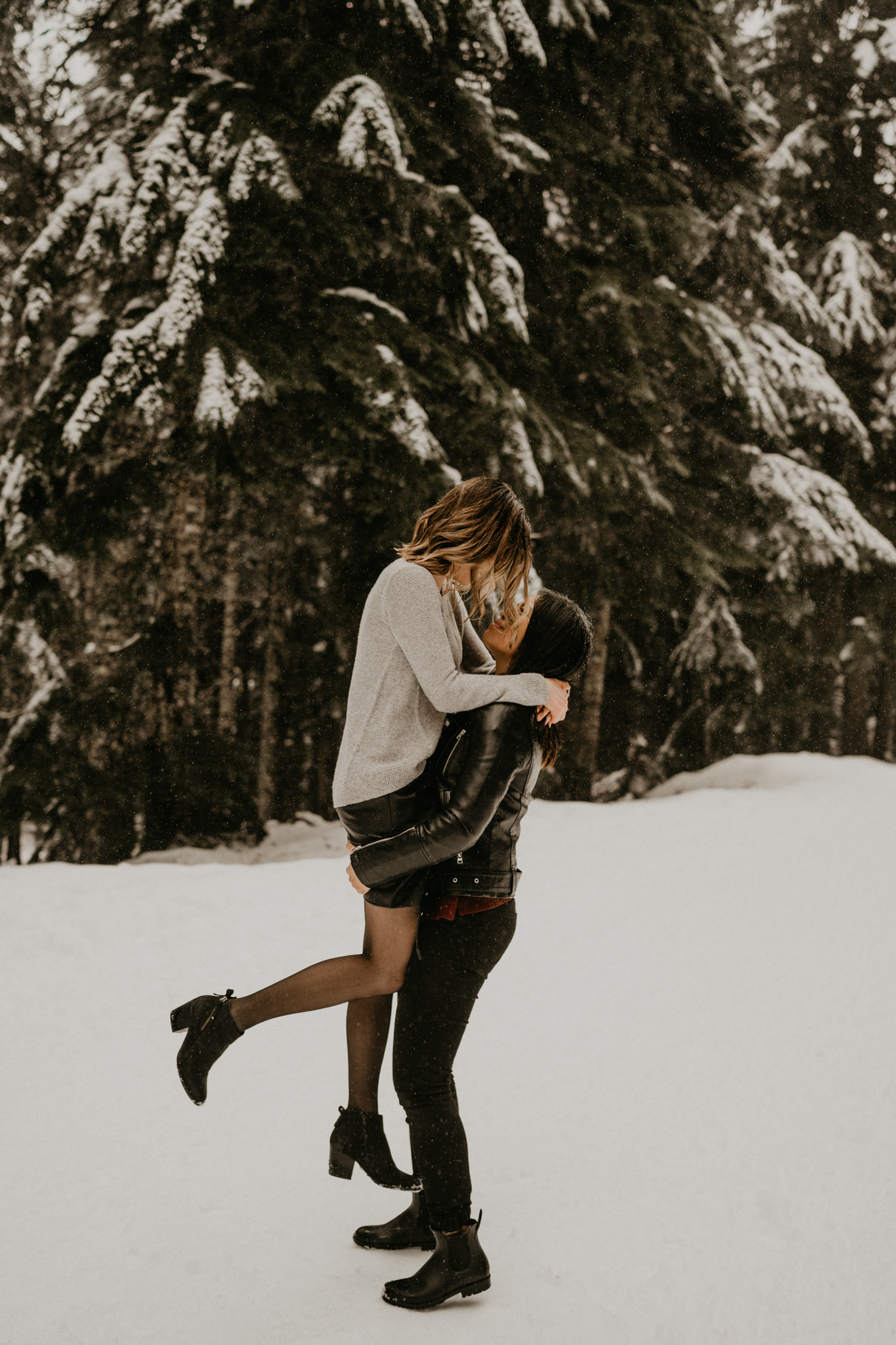 Snoqualmie Pass Seattle Tacoma Washington Portland Oregon Engagement Elopement Wedding Photographer Snow Gold Creek Pond Lake Rattlesnake Hiking Trail Ledge-9.jpg