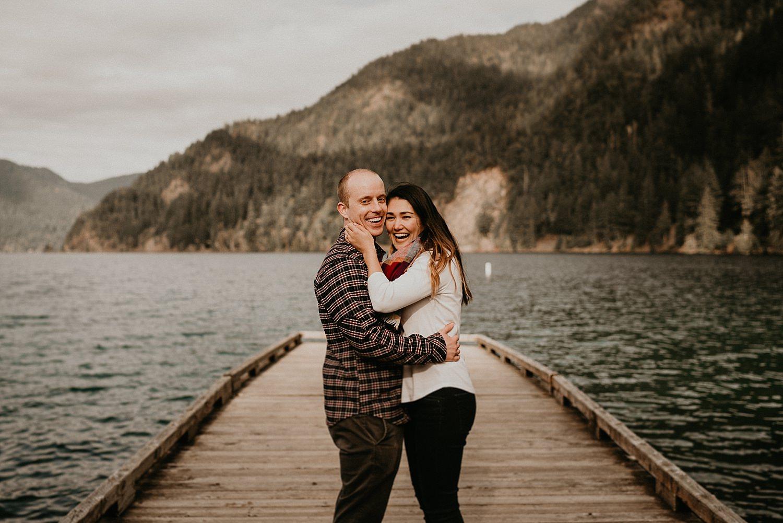 Mount Storm King Lake Crescent Wedding and Engagement Photographer