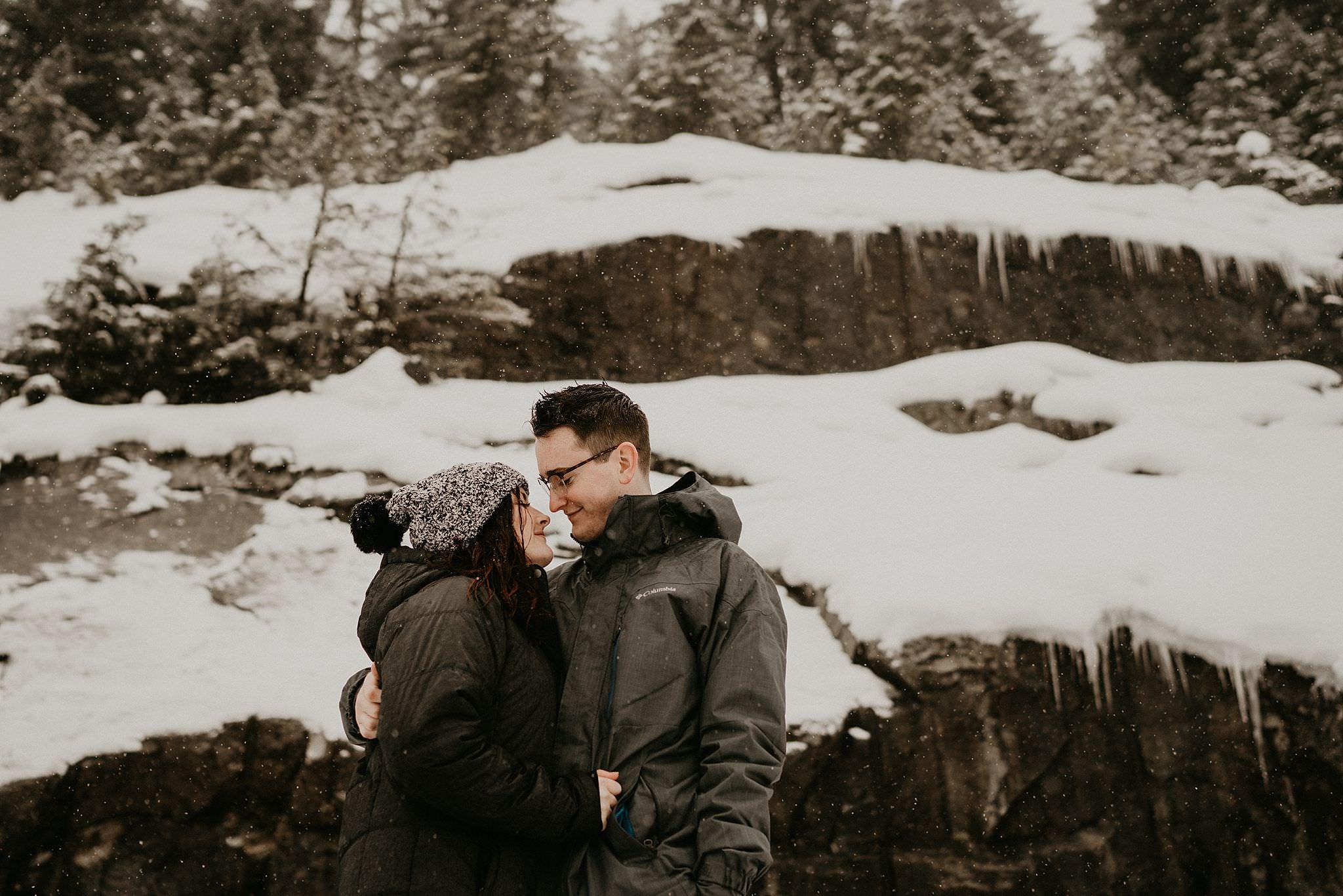 Alpental ski engagement photo