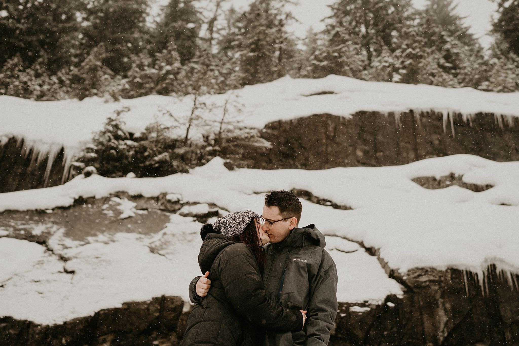 Alpental snow kiss by Snoqualmie Pass