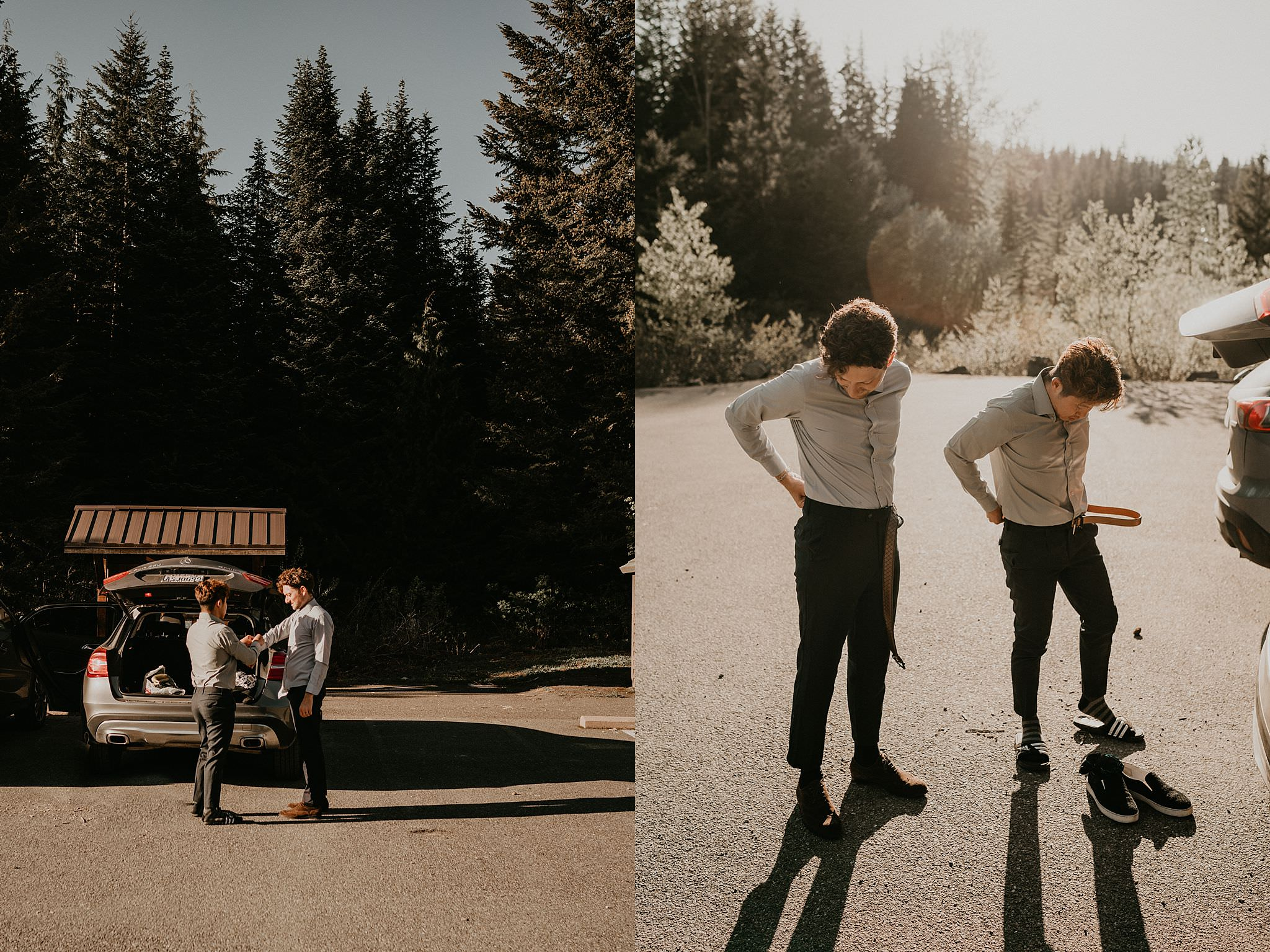 Gold Creek Pond gay elopement