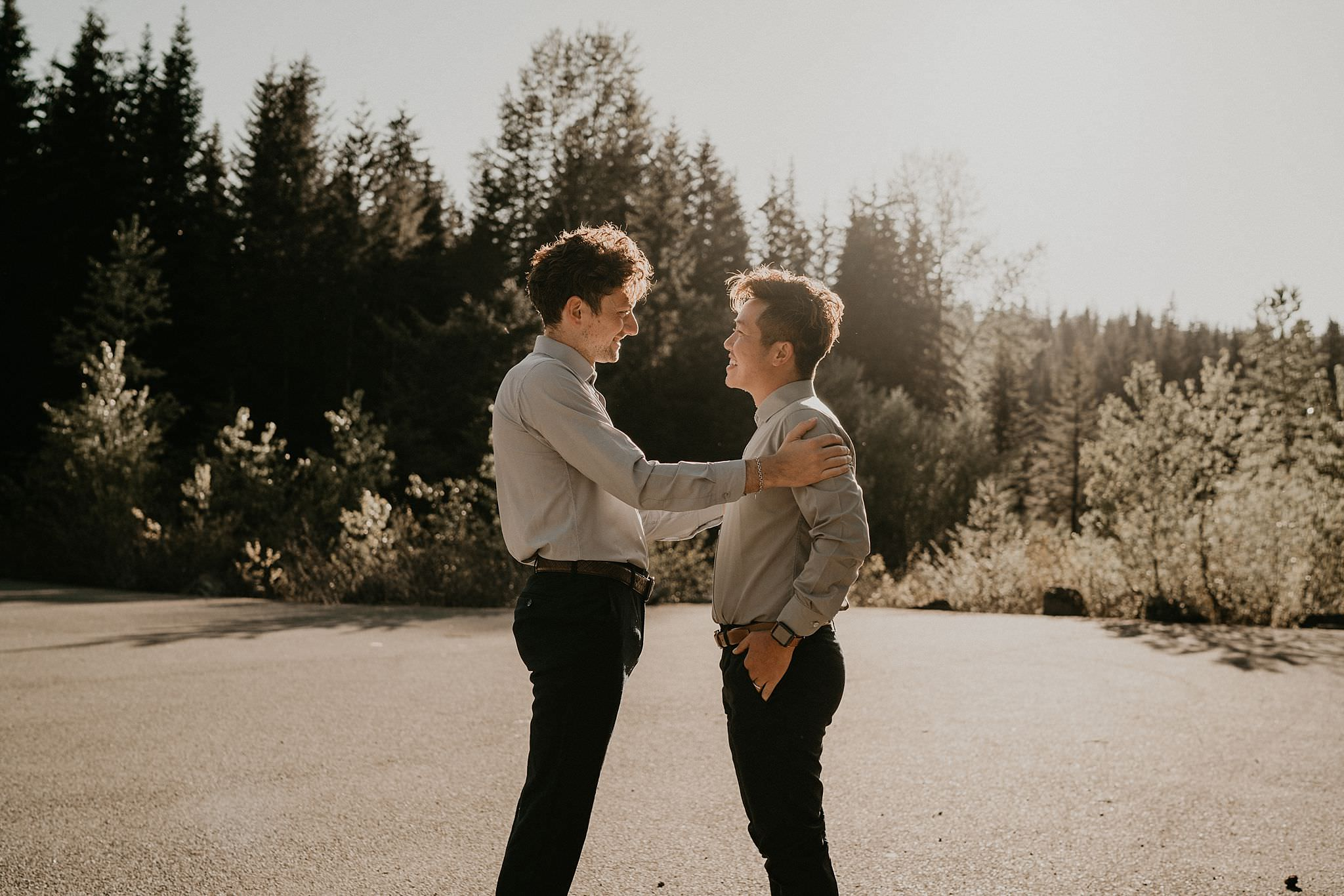 Portland same sex couple getting ready for wedding