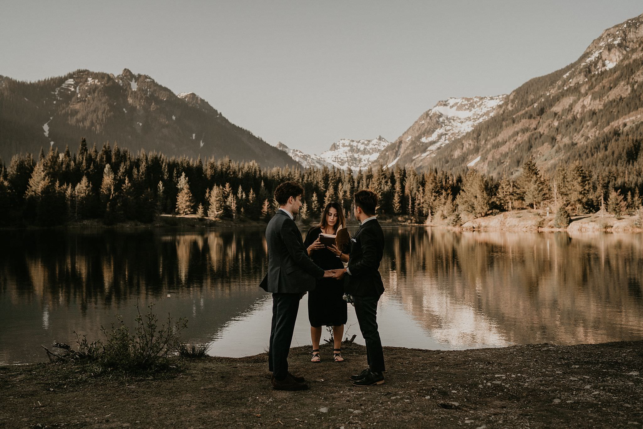 Gold Creek Pond Elopement Snoqualmie Pass