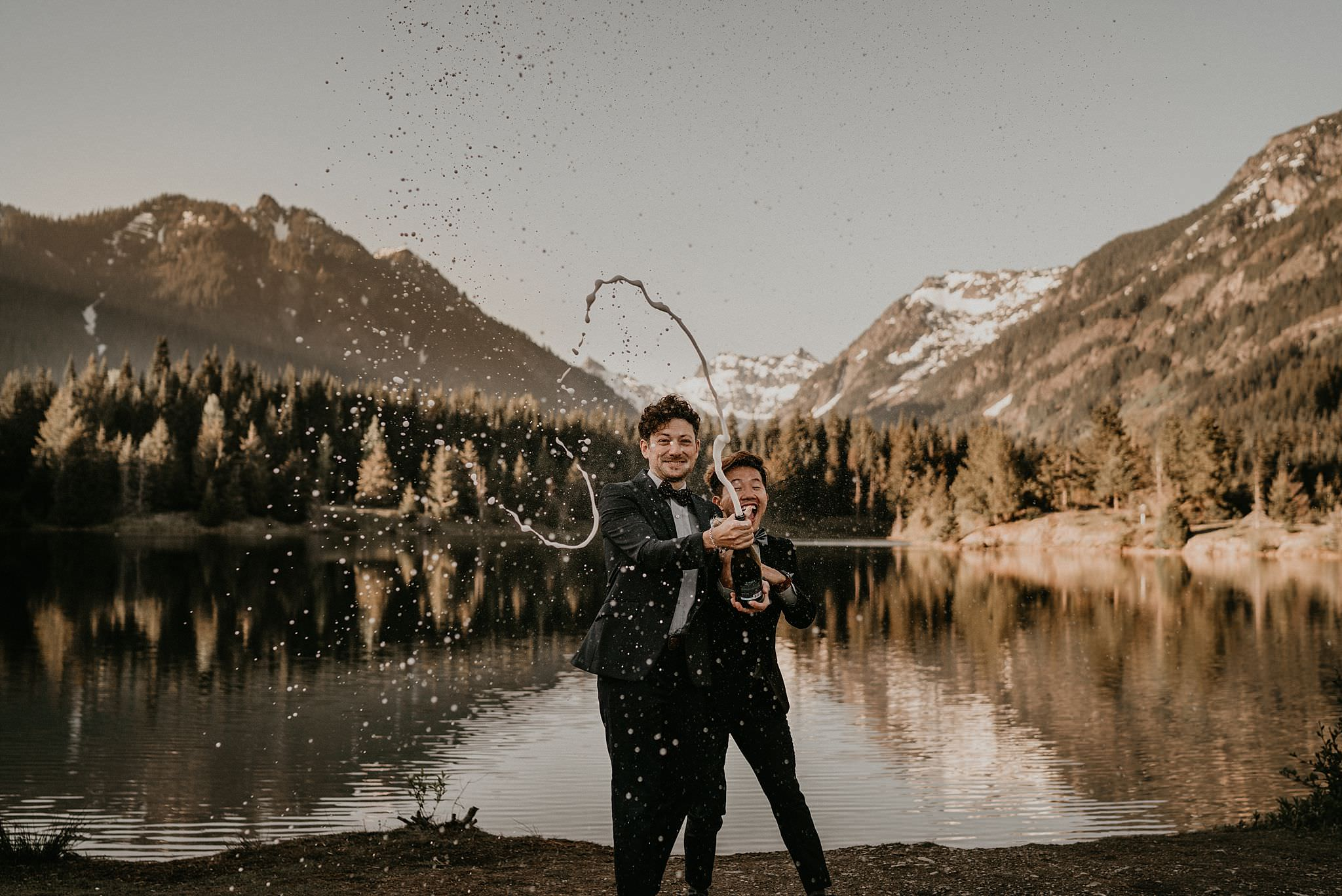 PNW adventure elopement for same sex couples