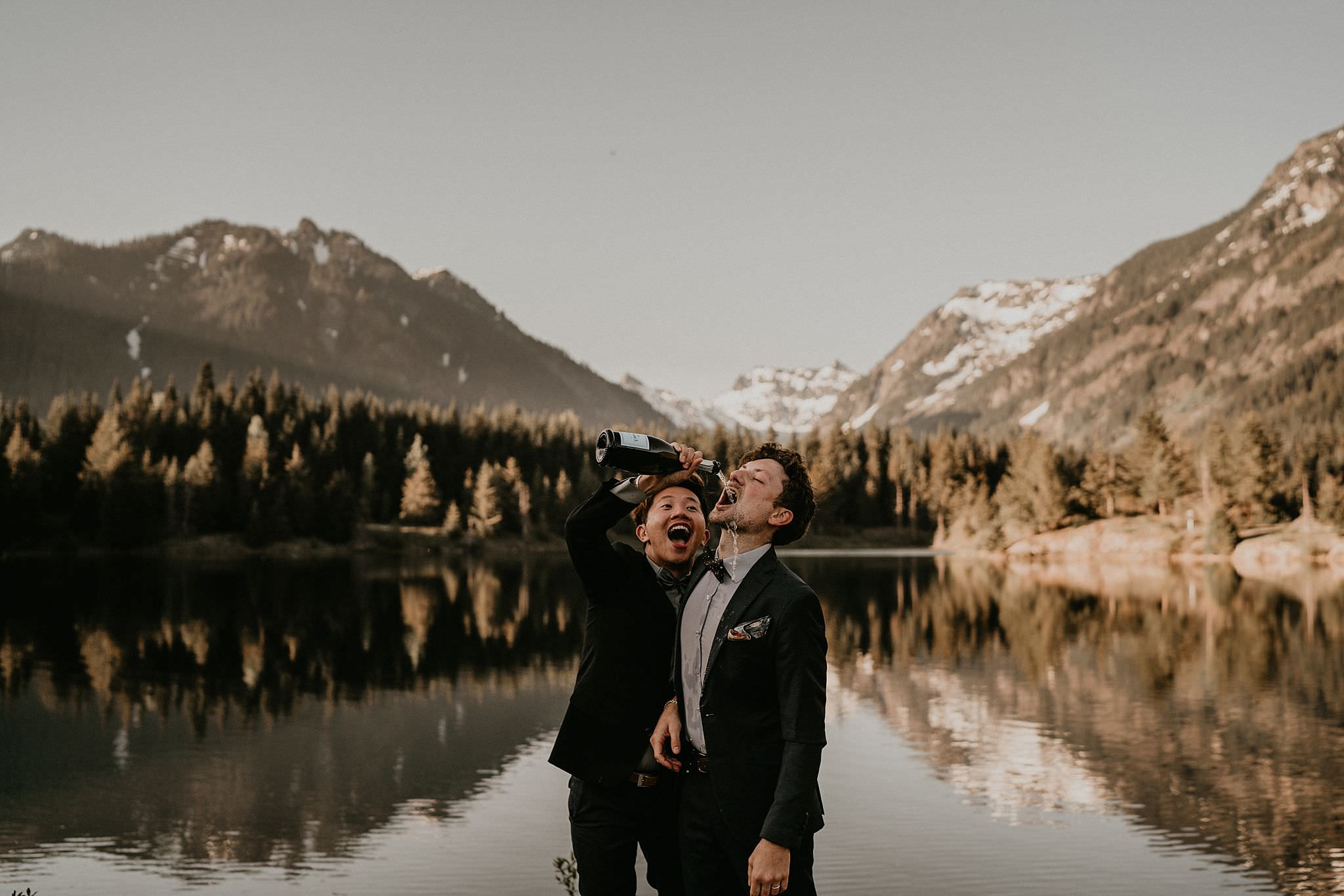 Gold Creek Pond elopement photos