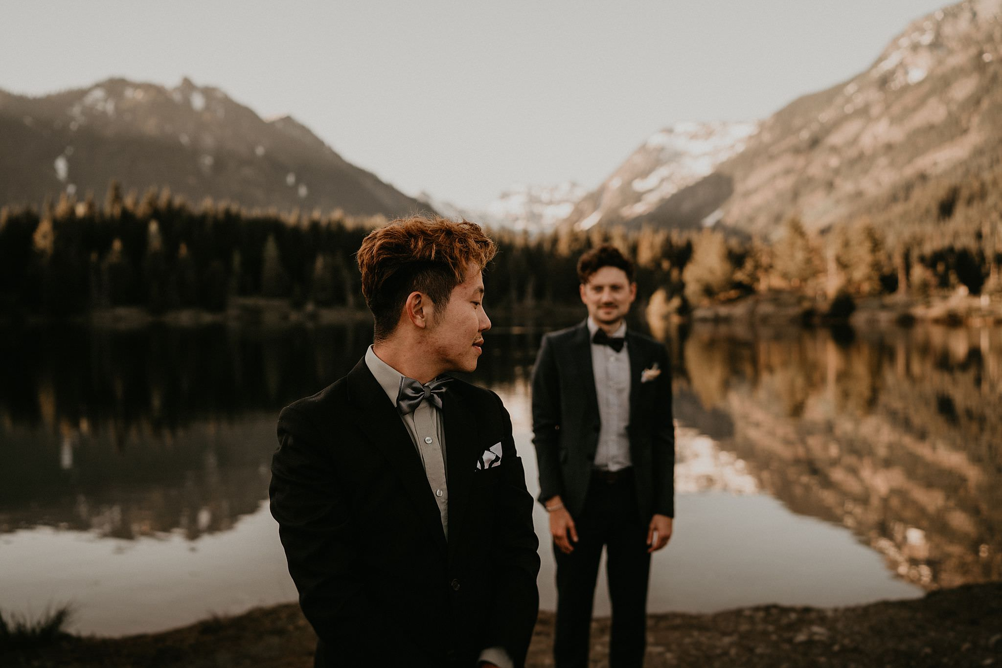 Gold Creek Pond wedding elopement engagement