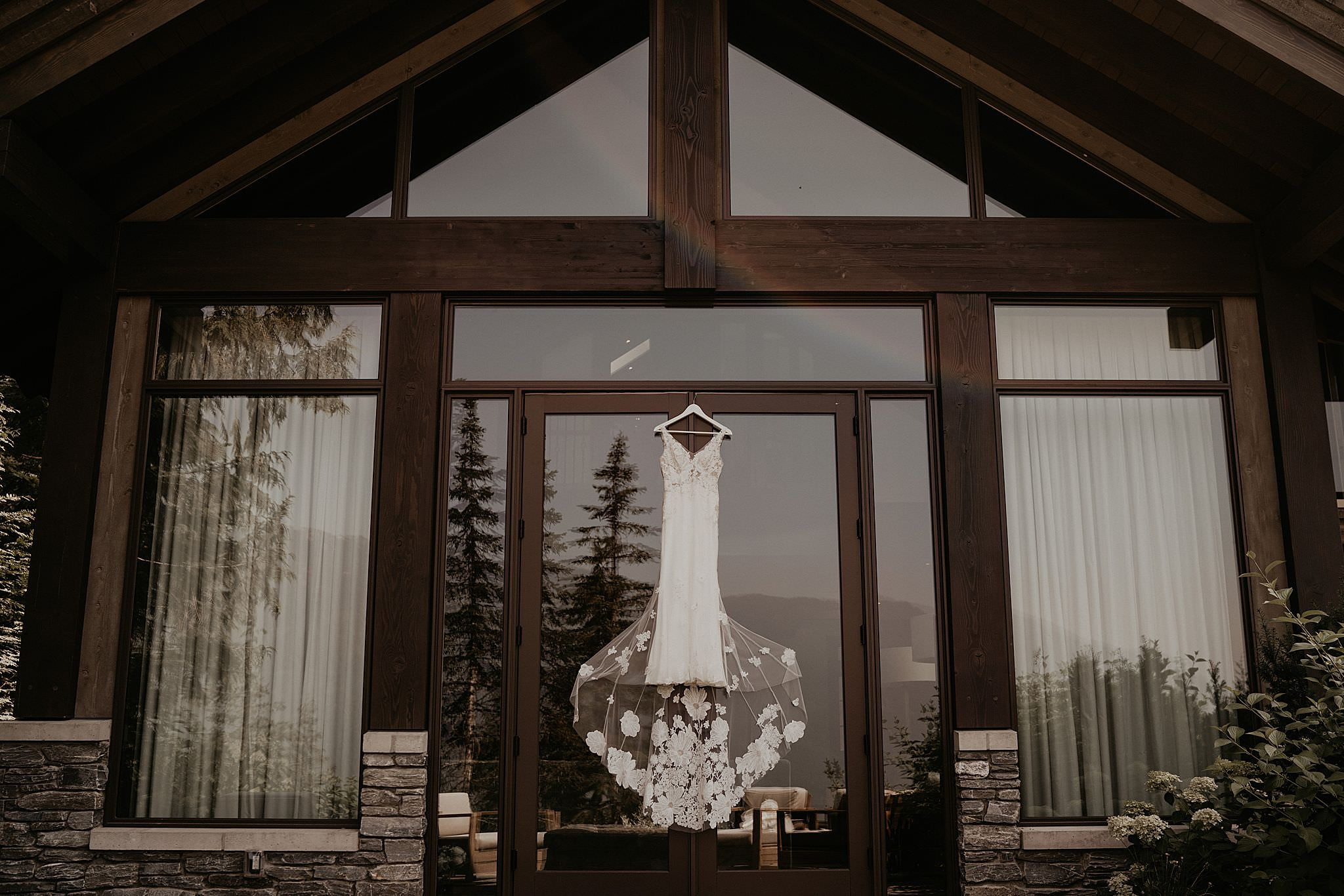 Jinza dress hand in whistler for elopement