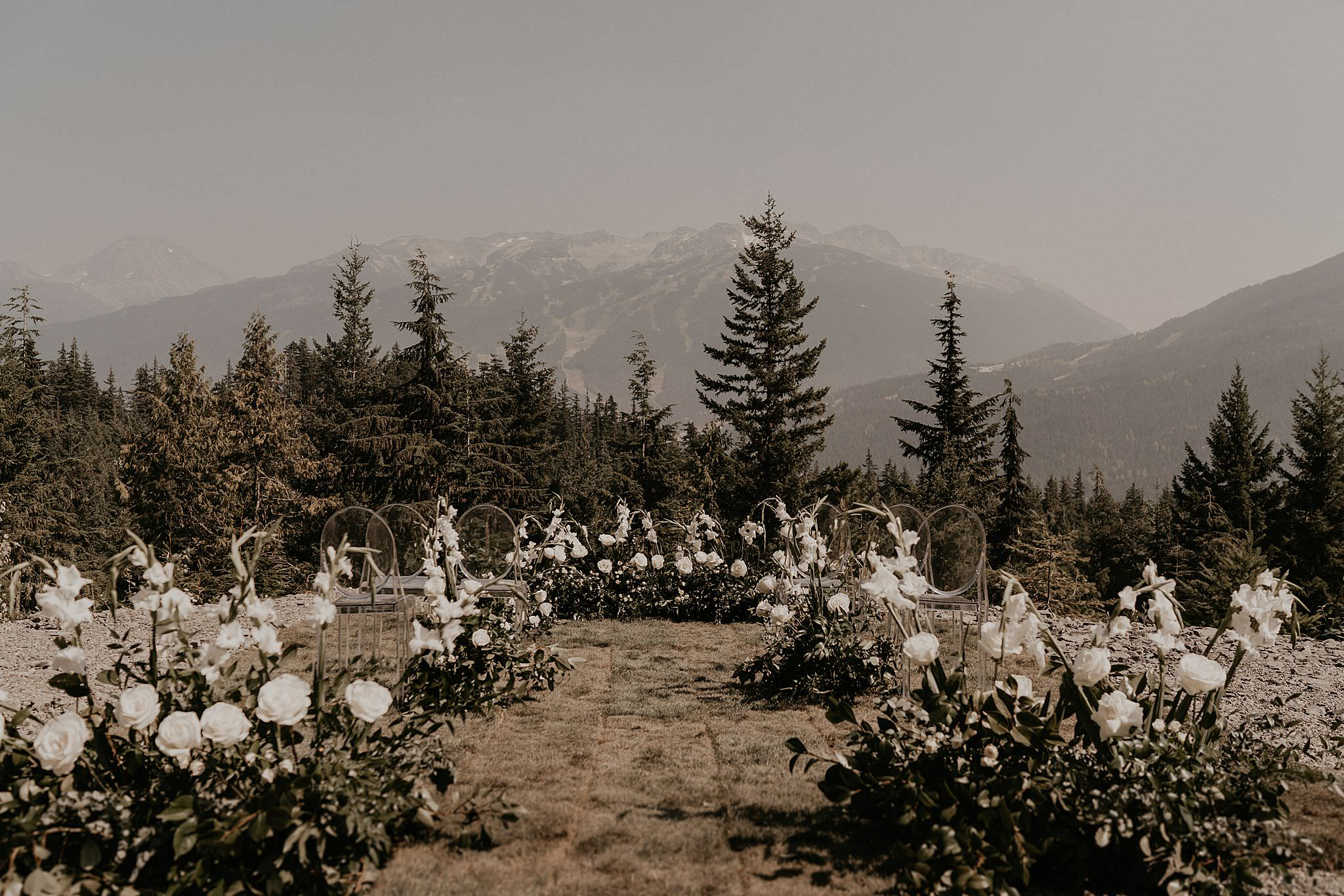 Whistler mountain sea to sky gondola elopement intimate wedding