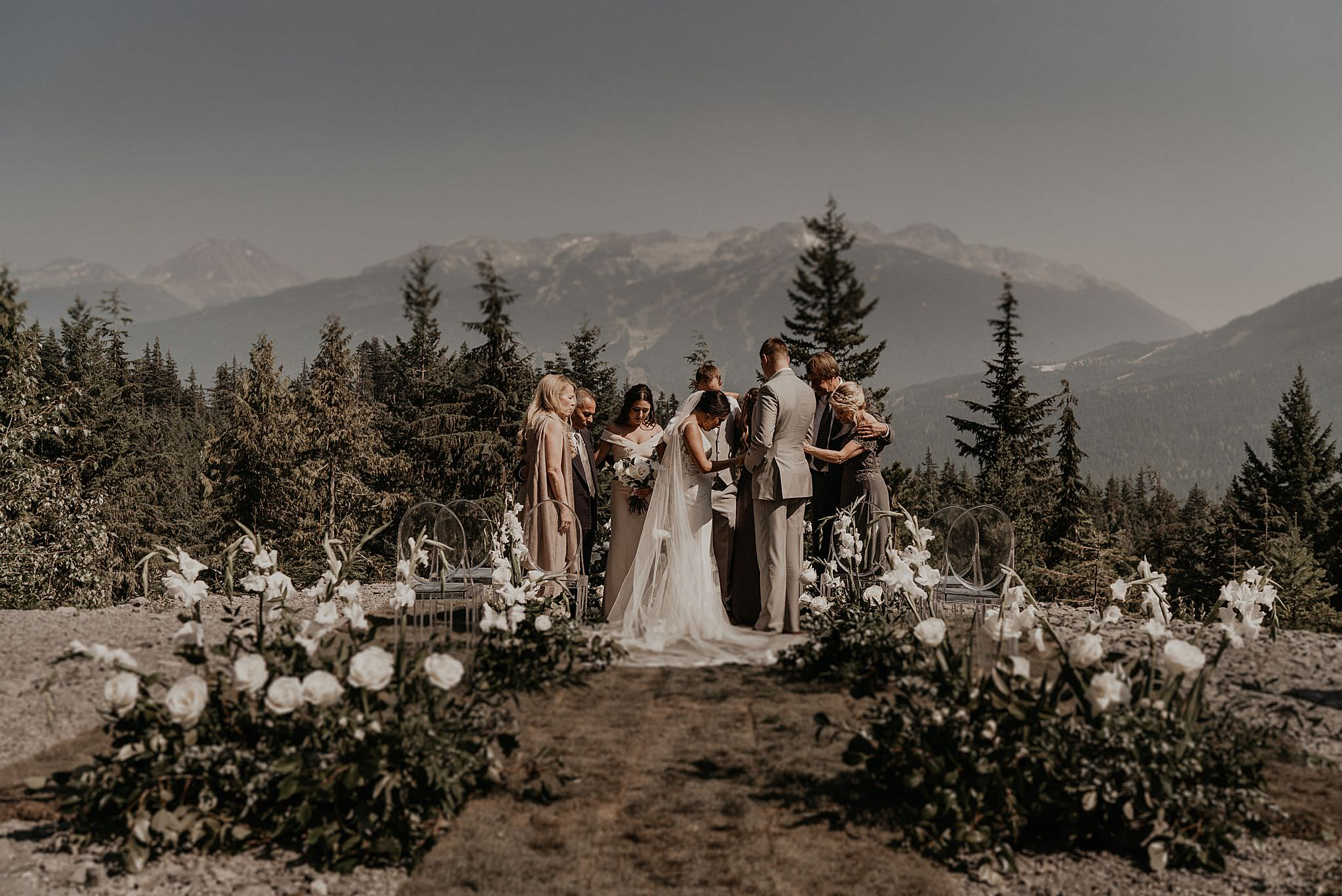 Intimate elopement in whistler Canada sea to sky