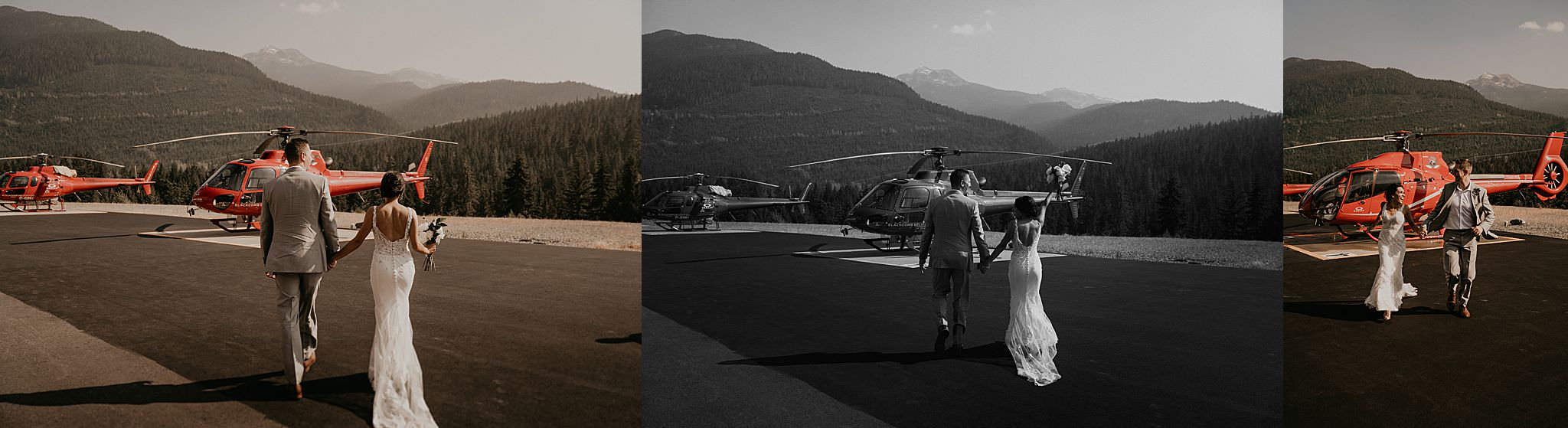 Whistler mountain wedding blackcomb helicopter