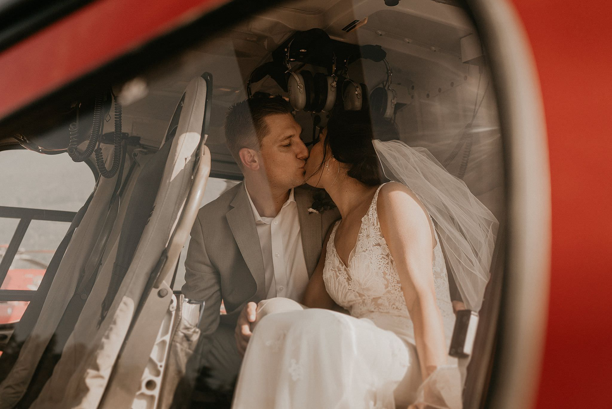 Alaska wedding and helicopter elopement