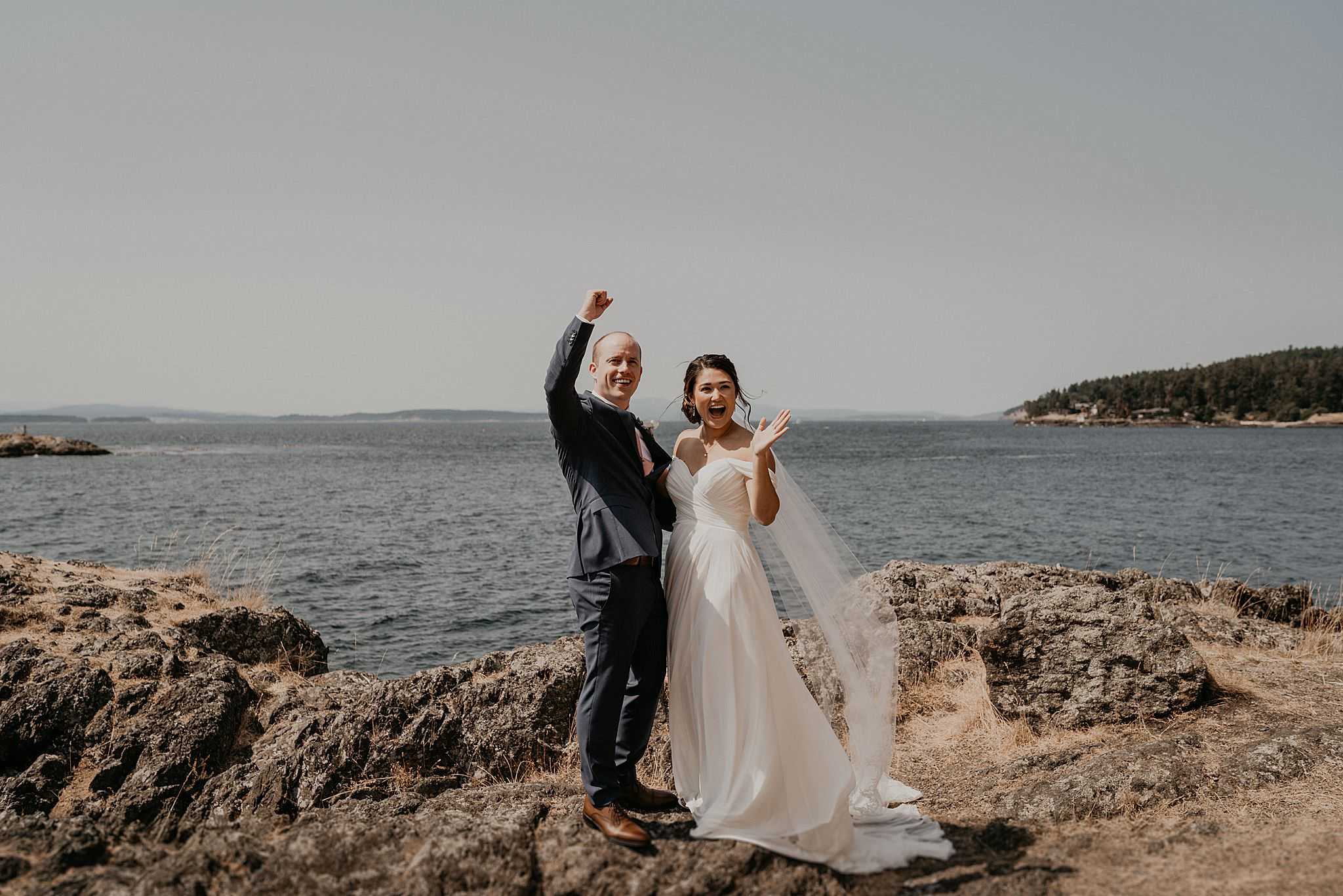Roche Harbor Wedding Lime Kiln State Park Elopement First Look