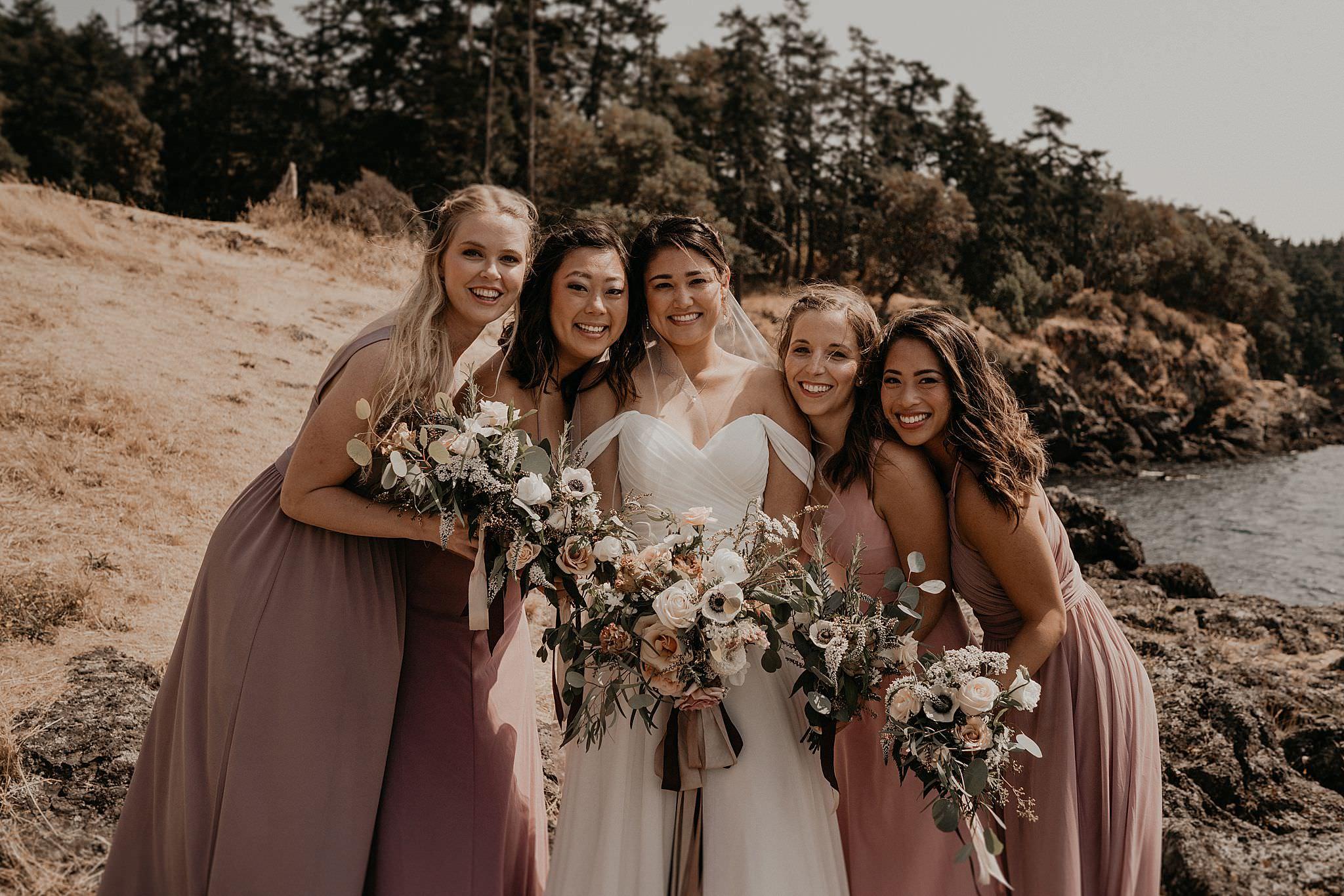 Roche Harbor Resort Wedding Bridal Party Formals Portraits Photos